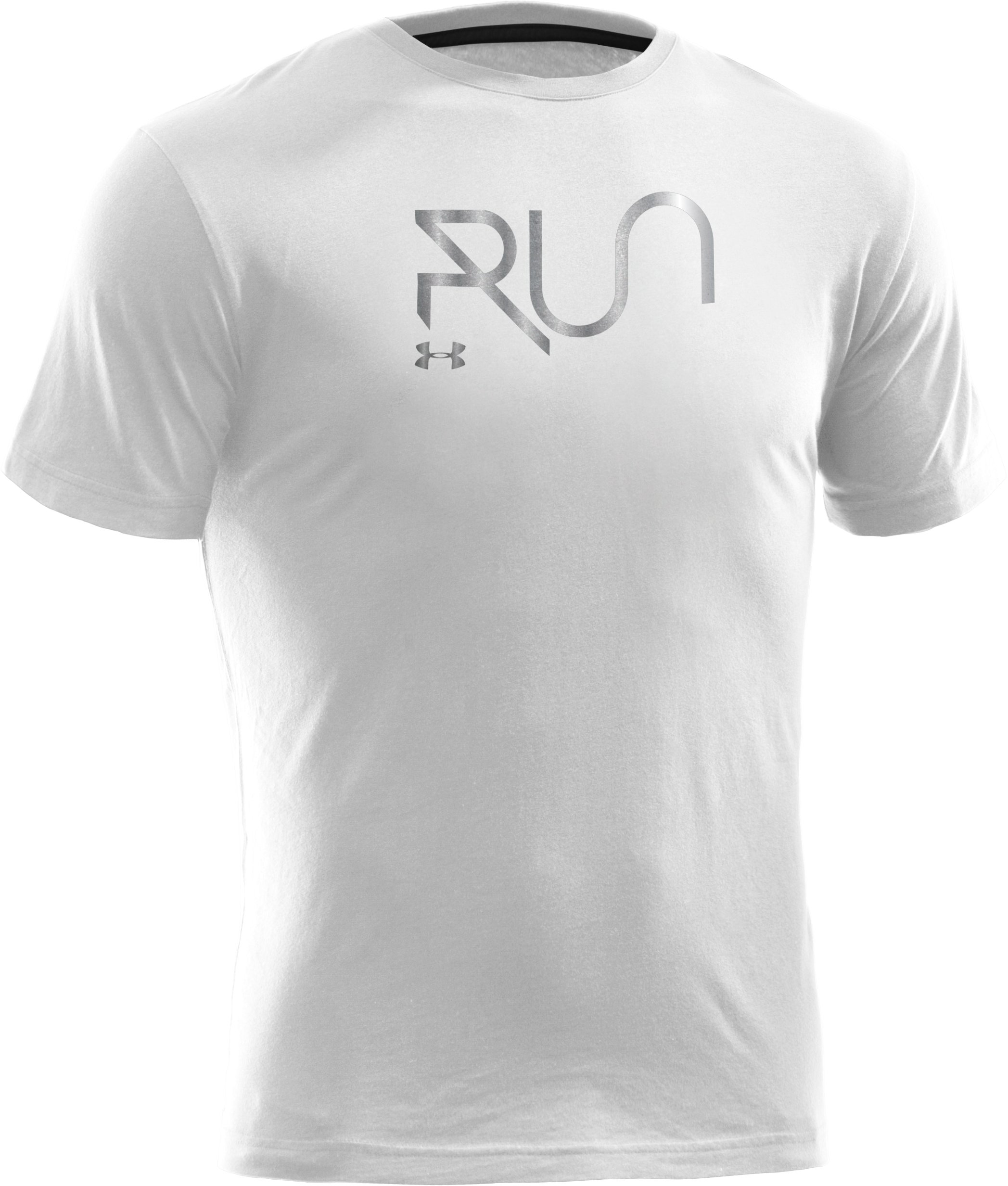 Men's UA Run Reflective T-Shirt, White