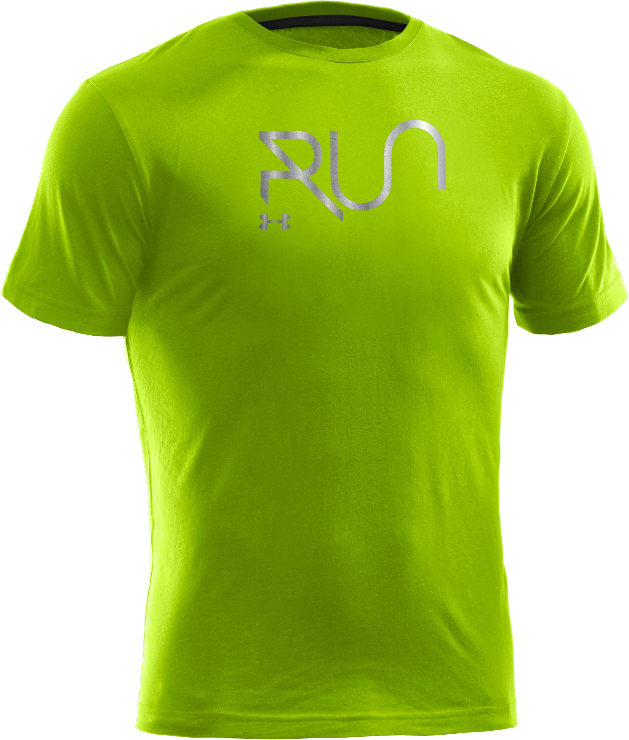 Men's UA Run Reflective T-Shirt, HYPER GREEN