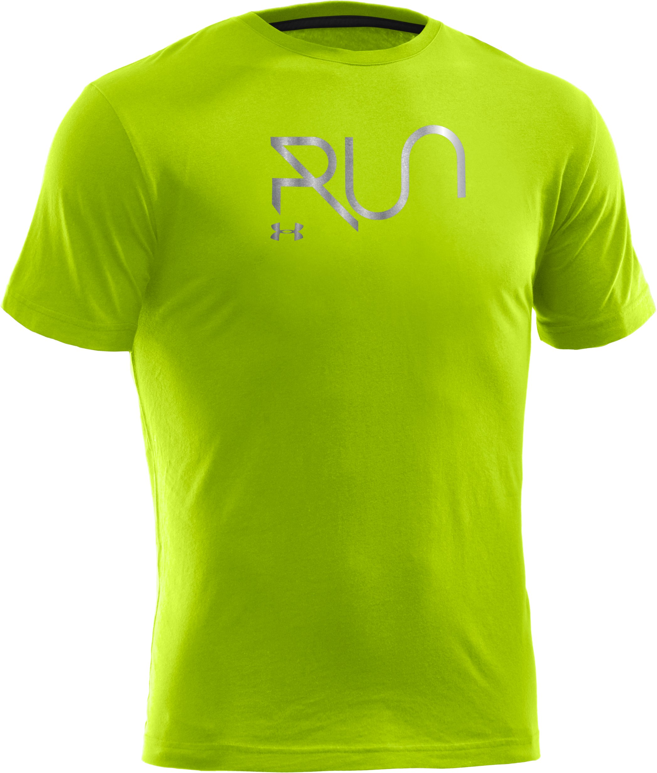 Men's UA Run Reflective T-Shirt, High-Vis Yellow