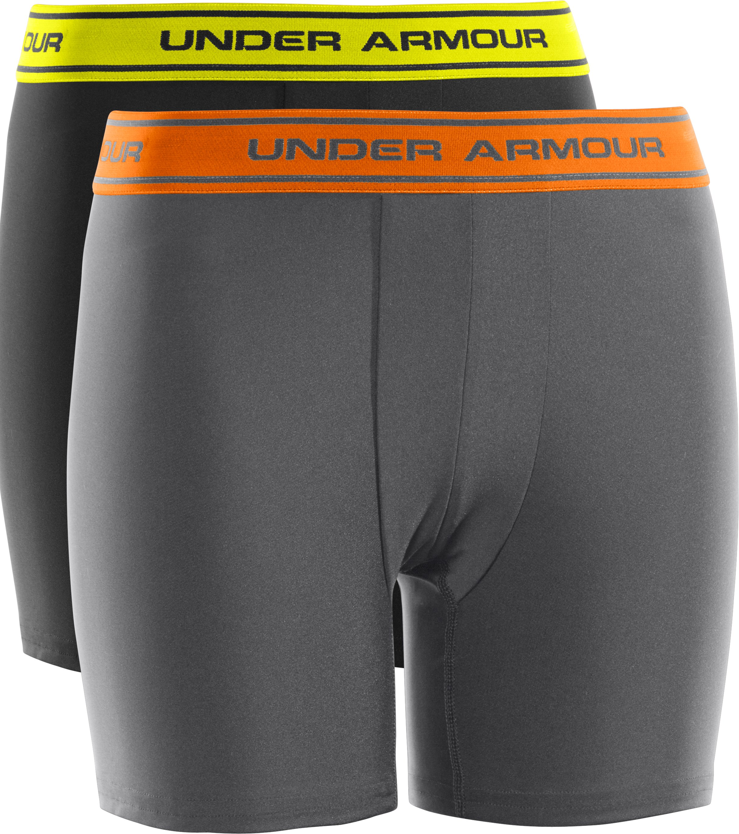 Boys' UA Original Series Boxerjock® 2-Pack, Graphite, zoomed image