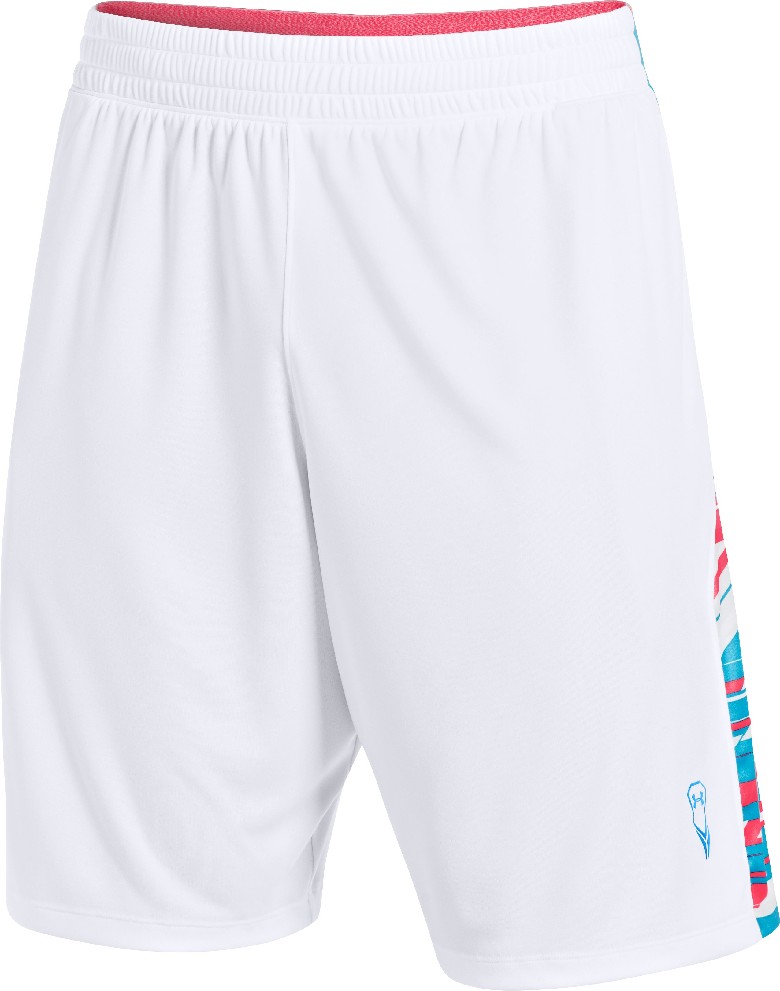 Men's UA Uri Dicuhluss Lacrosse Shorts, White