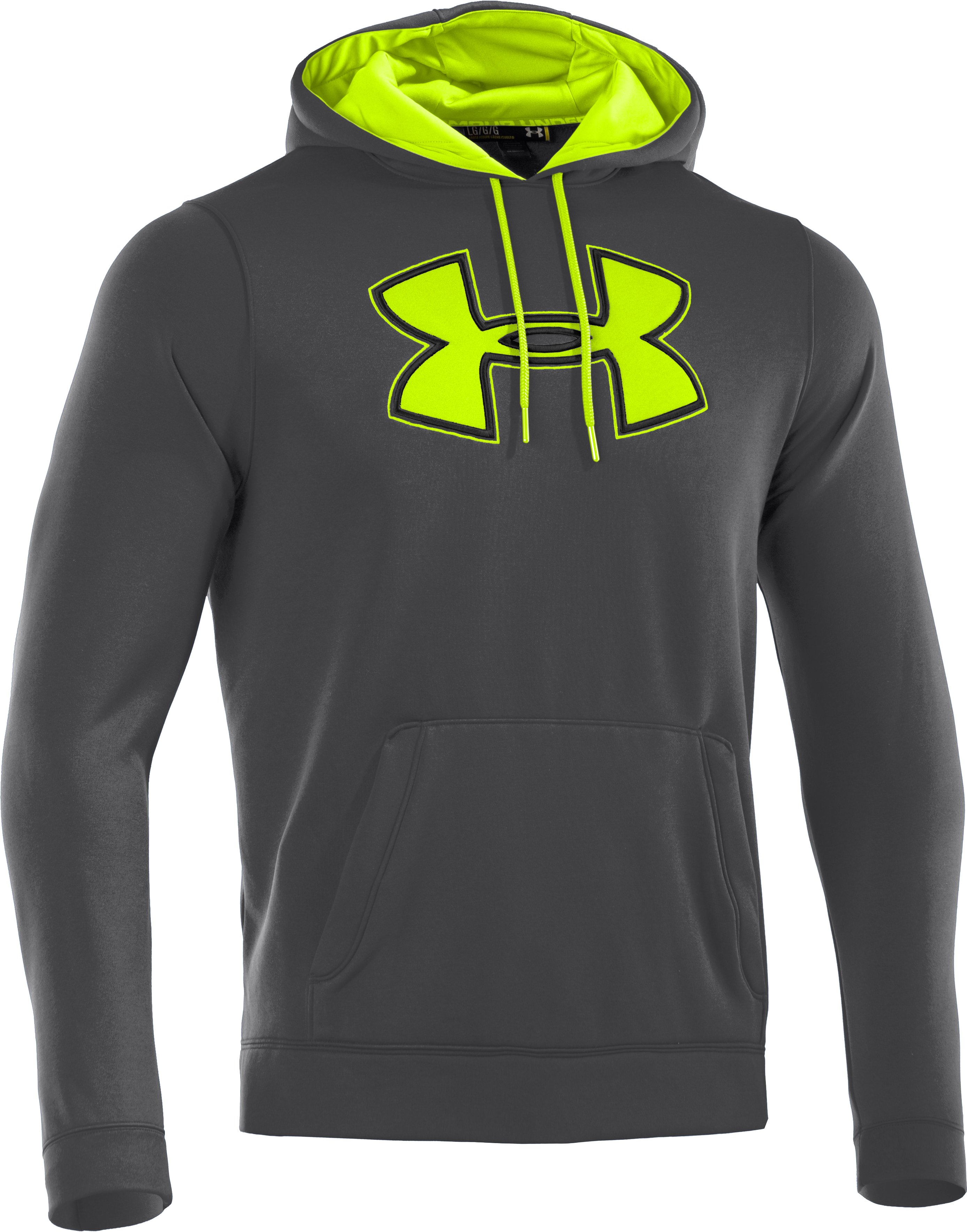 Men's UA Storm Armour® Fleece Big Logo Hoodie, Graphite, undefined