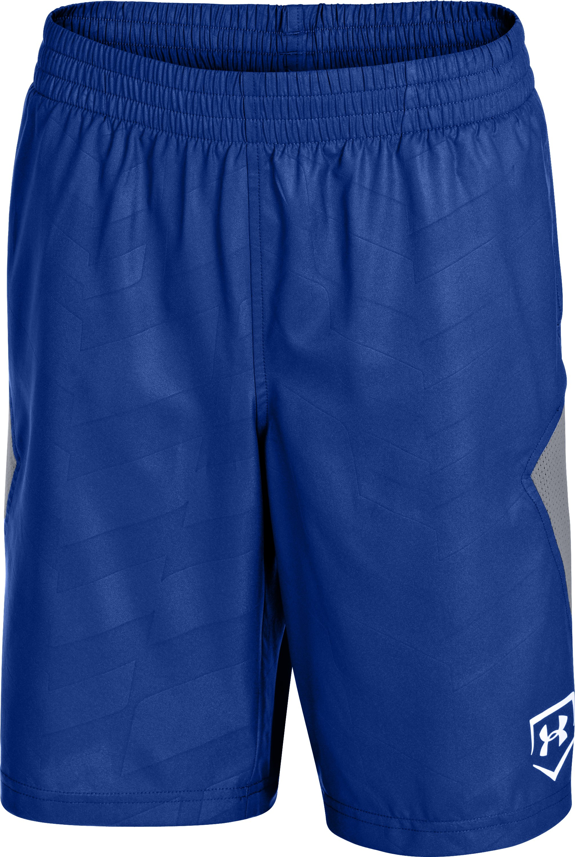 Boys' UA CTG Baseball Training Shorts, Royal, zoomed image
