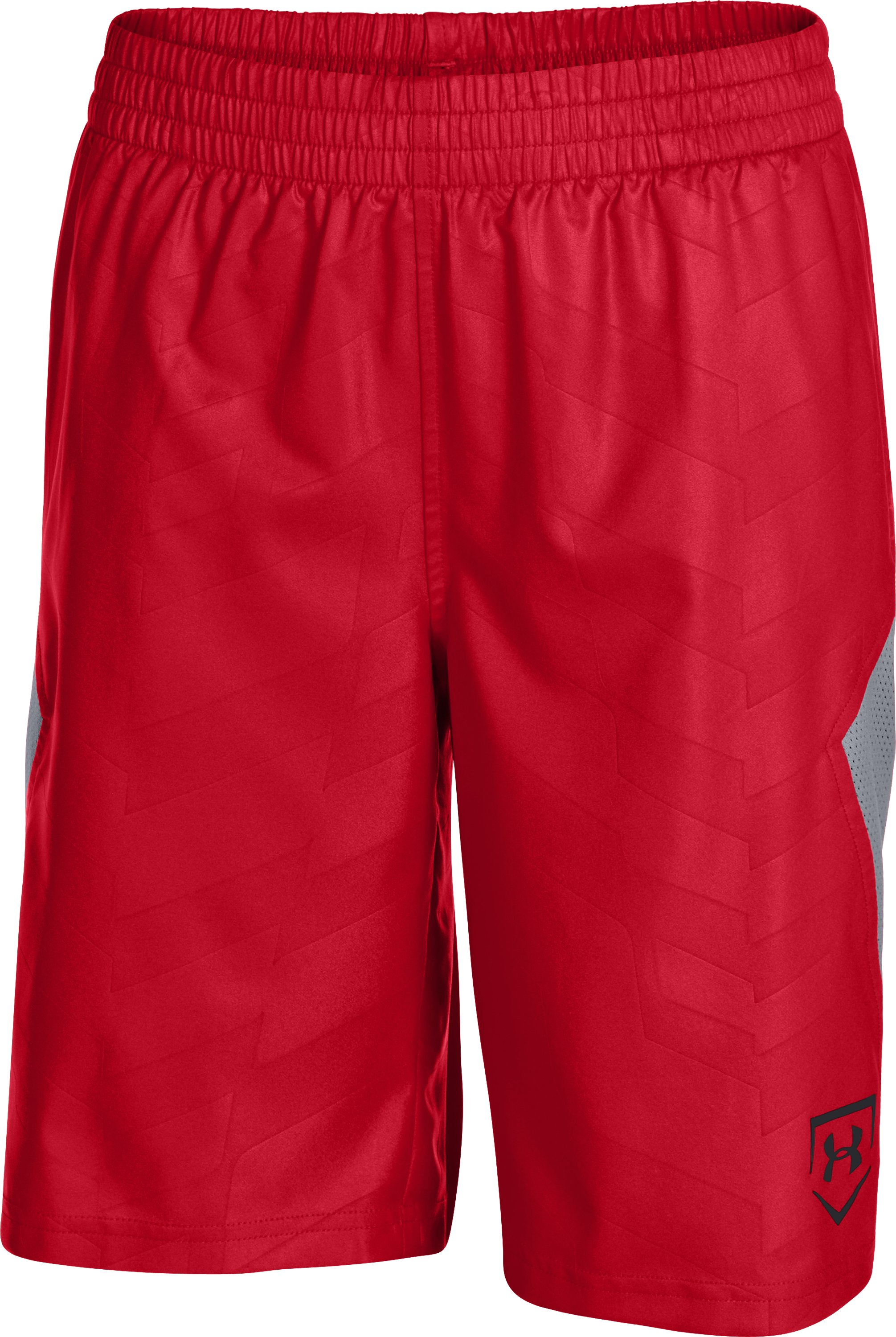 Boys' UA CTG Baseball Training Shorts, Red, zoomed image