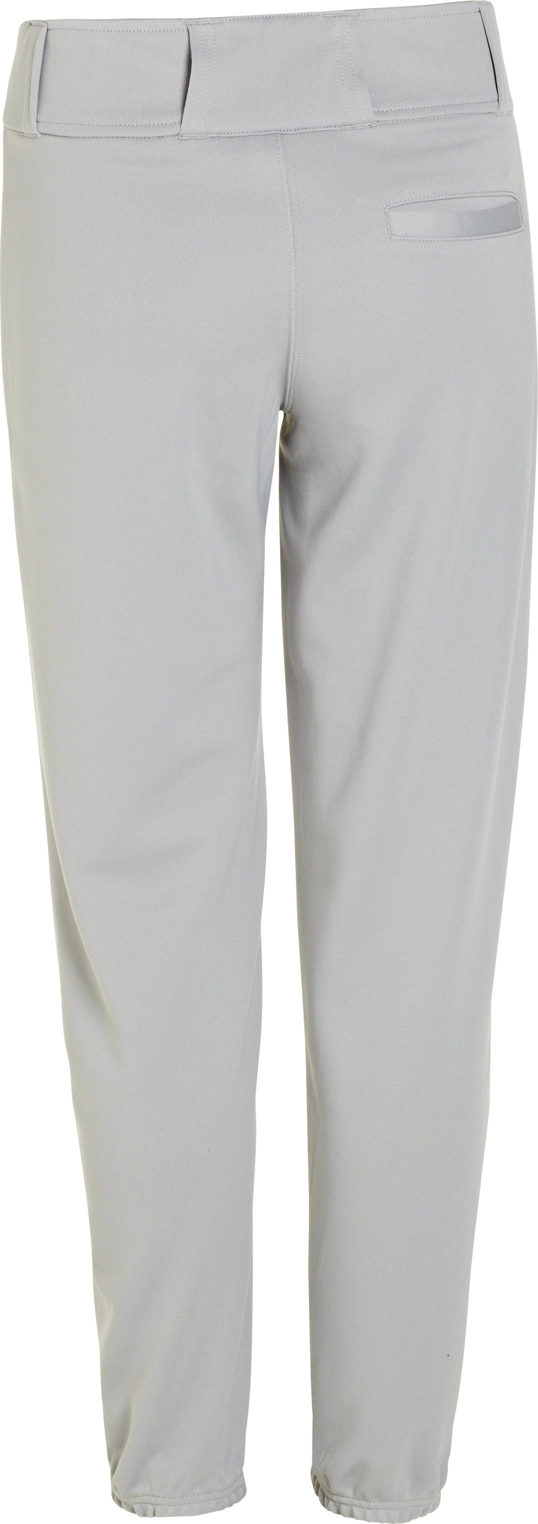 Boys' UA Clean Up Closed Bottom Baseball Pants, Baseball Gray