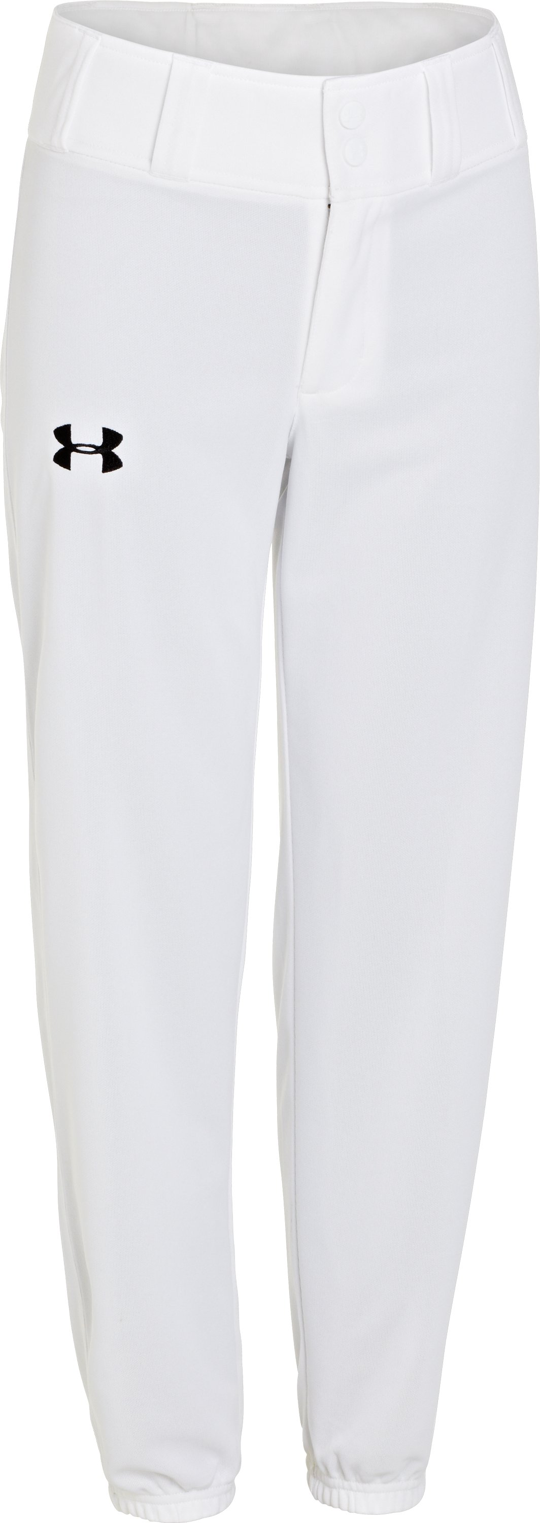 Boys' UA Clean Up Closed Bottom Baseball Pants, White, undefined