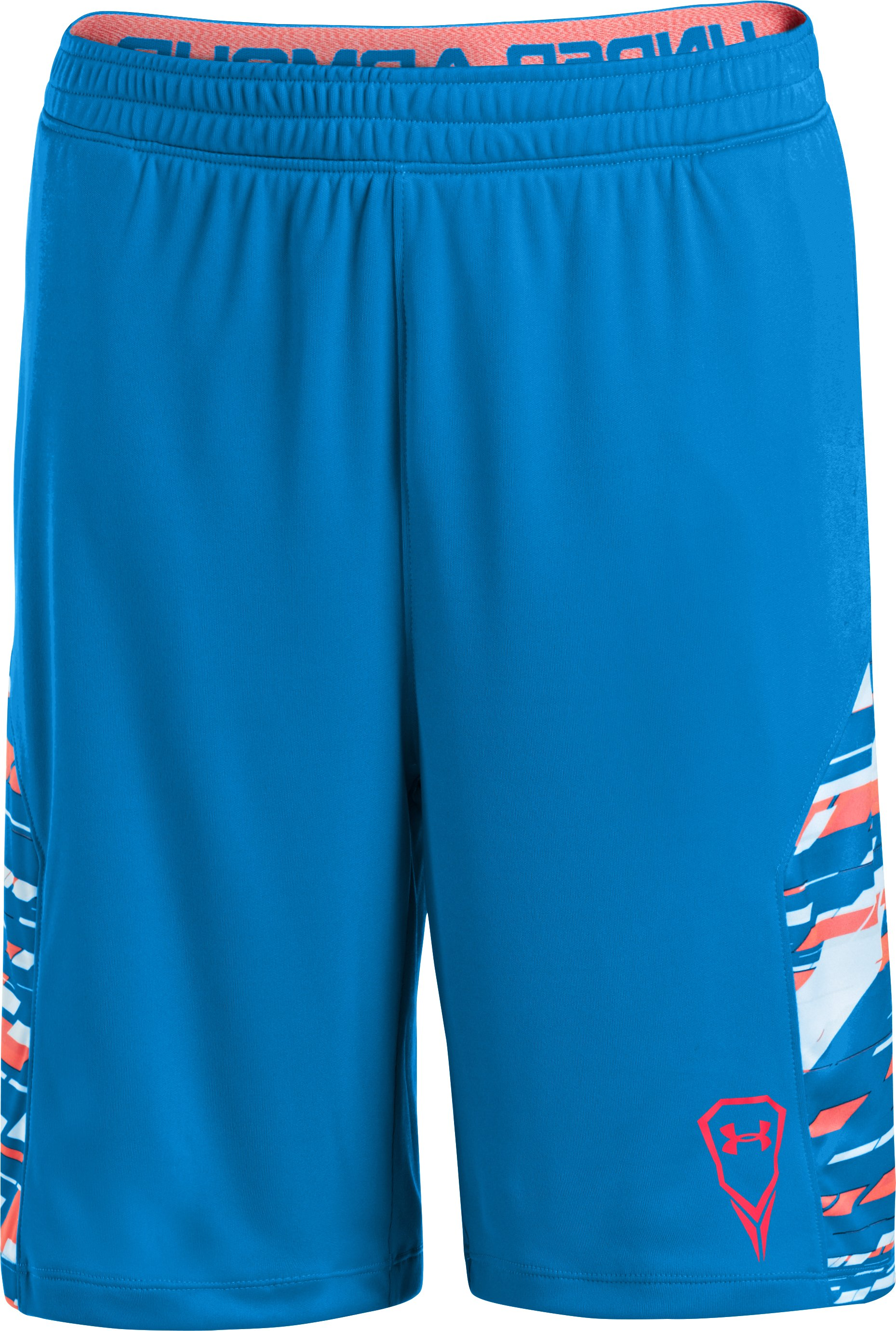 Boys' UA Uri Dicuhluss Shorts, ELECTRIC BLUE