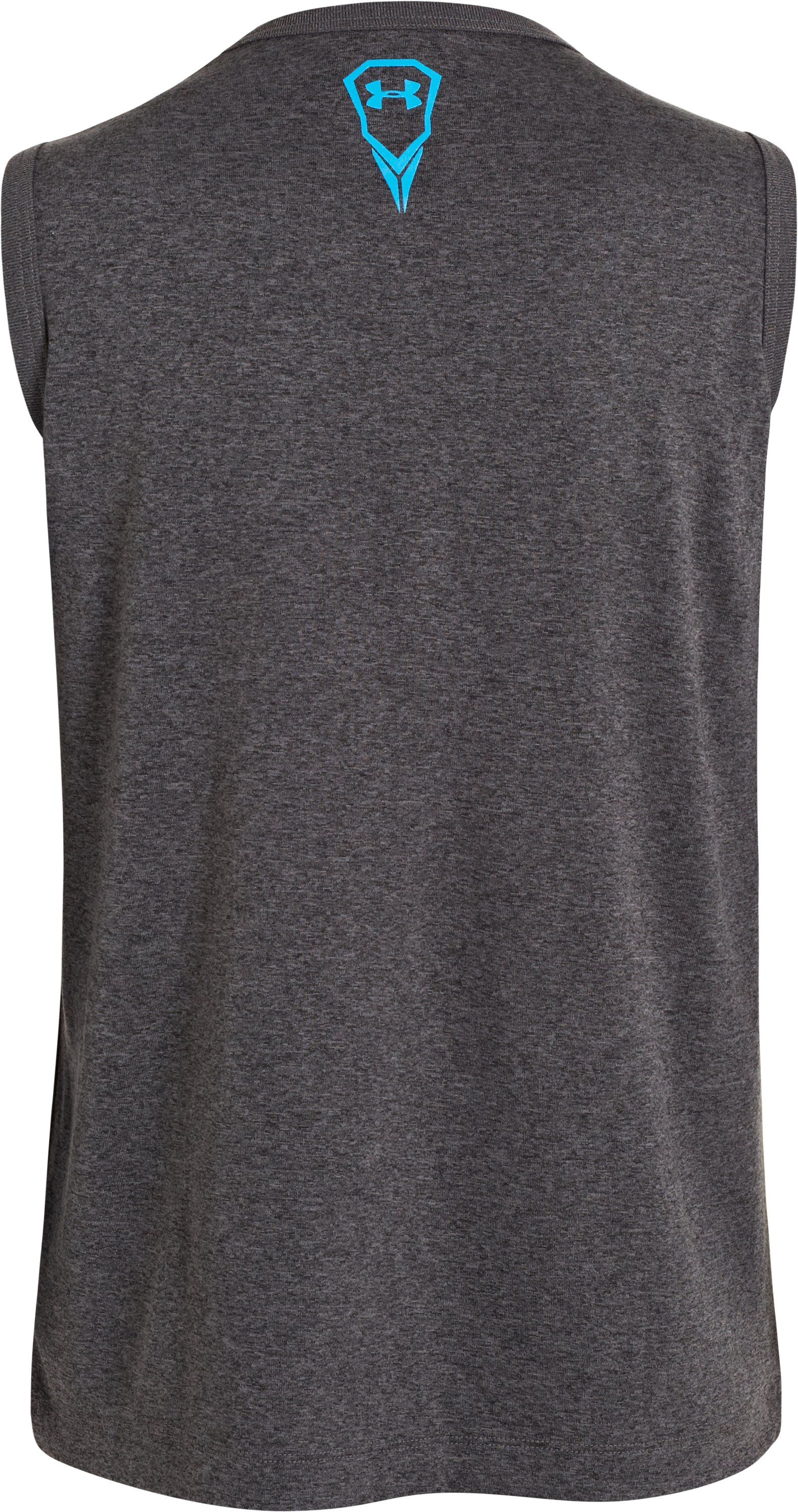 Boys' UA Rippin & Tearin Tank, Carbon Heather, undefined