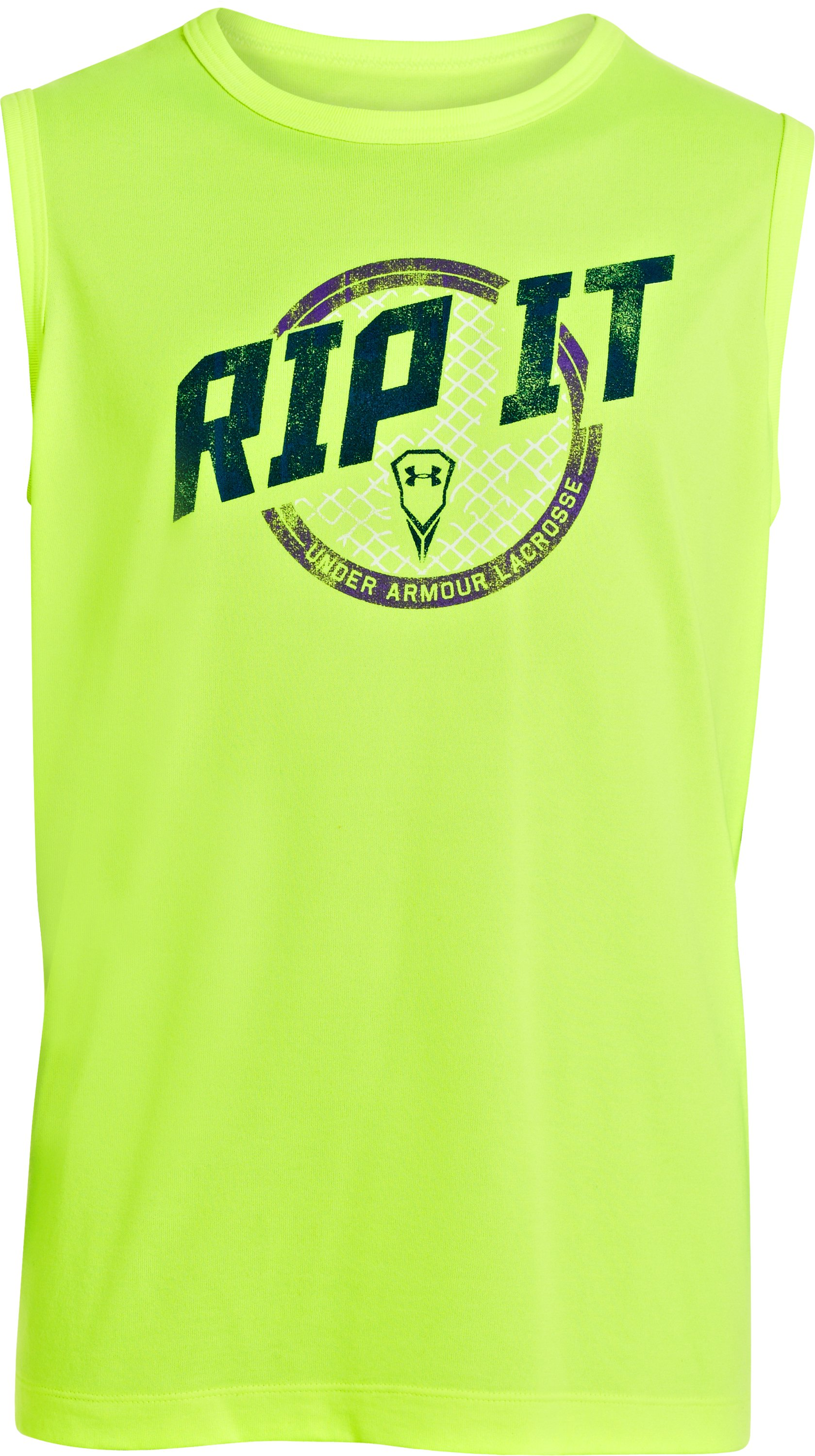Boys' UA Rippin & Tearin Tank, High-Vis Yellow, undefined