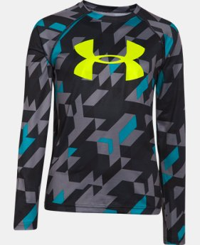 Boys' UA Tech™ Big Logo Printed Long Sleeve T-Shirt   $22.99