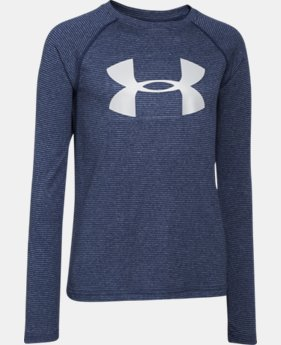 Boys' UA Tech™ Big Logo Printed Long Sleeve T-Shirt  1 Color $17.99 to $22.99