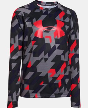 Boys' UA Tech™ Big Logo Printed Long Sleeve T-Shirt LIMITED TIME: FREE SHIPPING 1 Color $22.99
