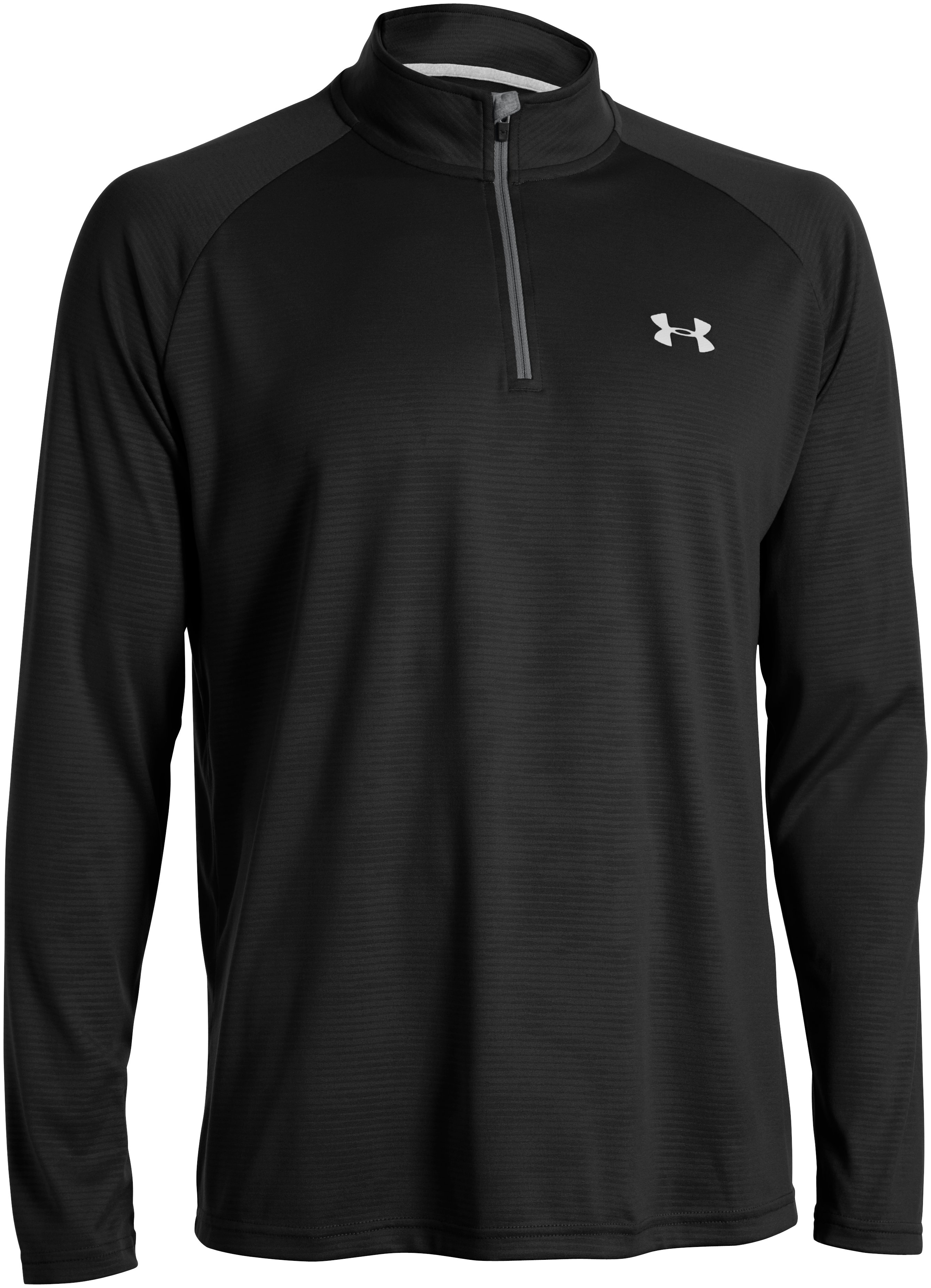Men's UA Tech™ ¼ Zip, Black