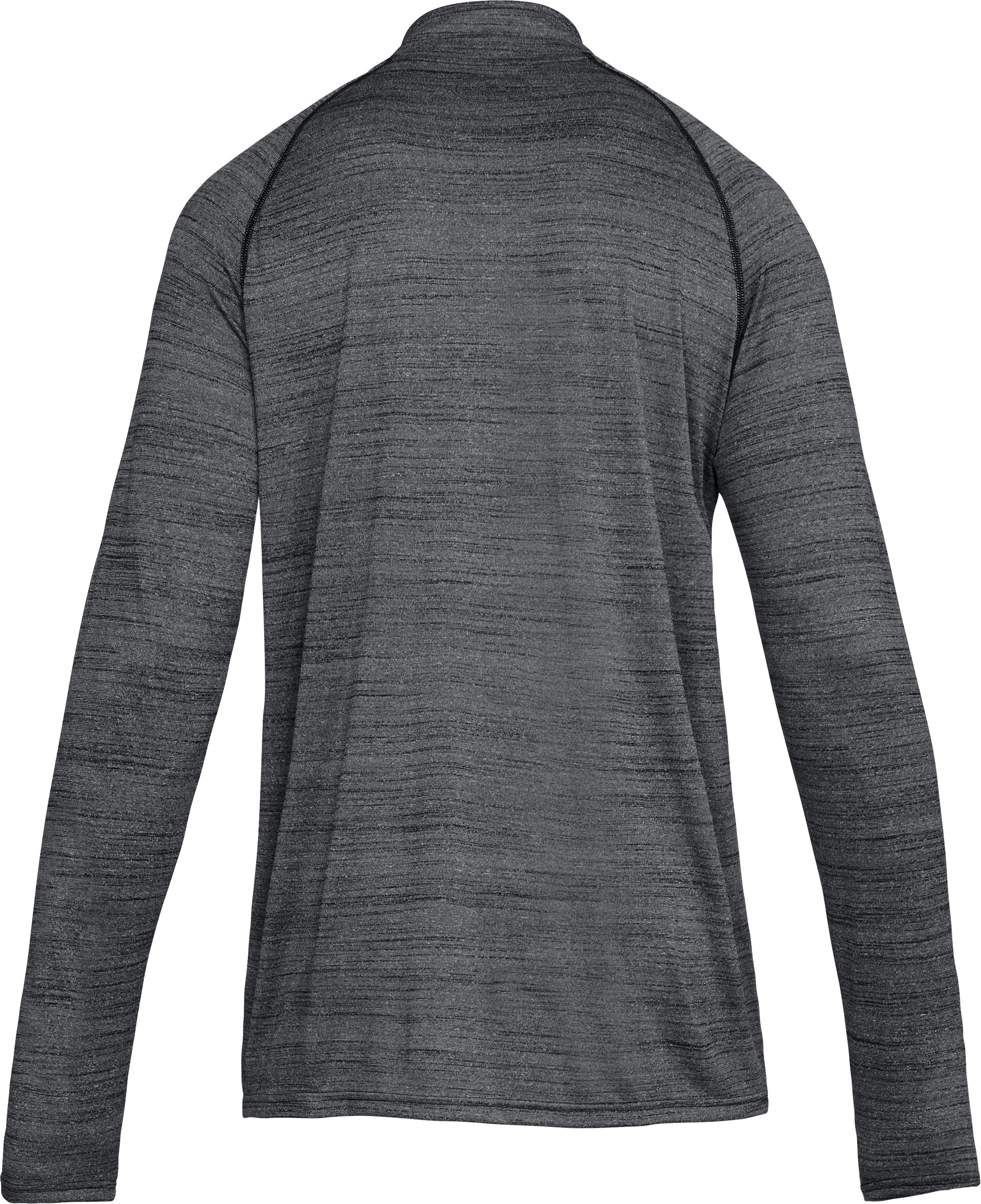 Men's UA Tech™ ¼ Zip, Black ,