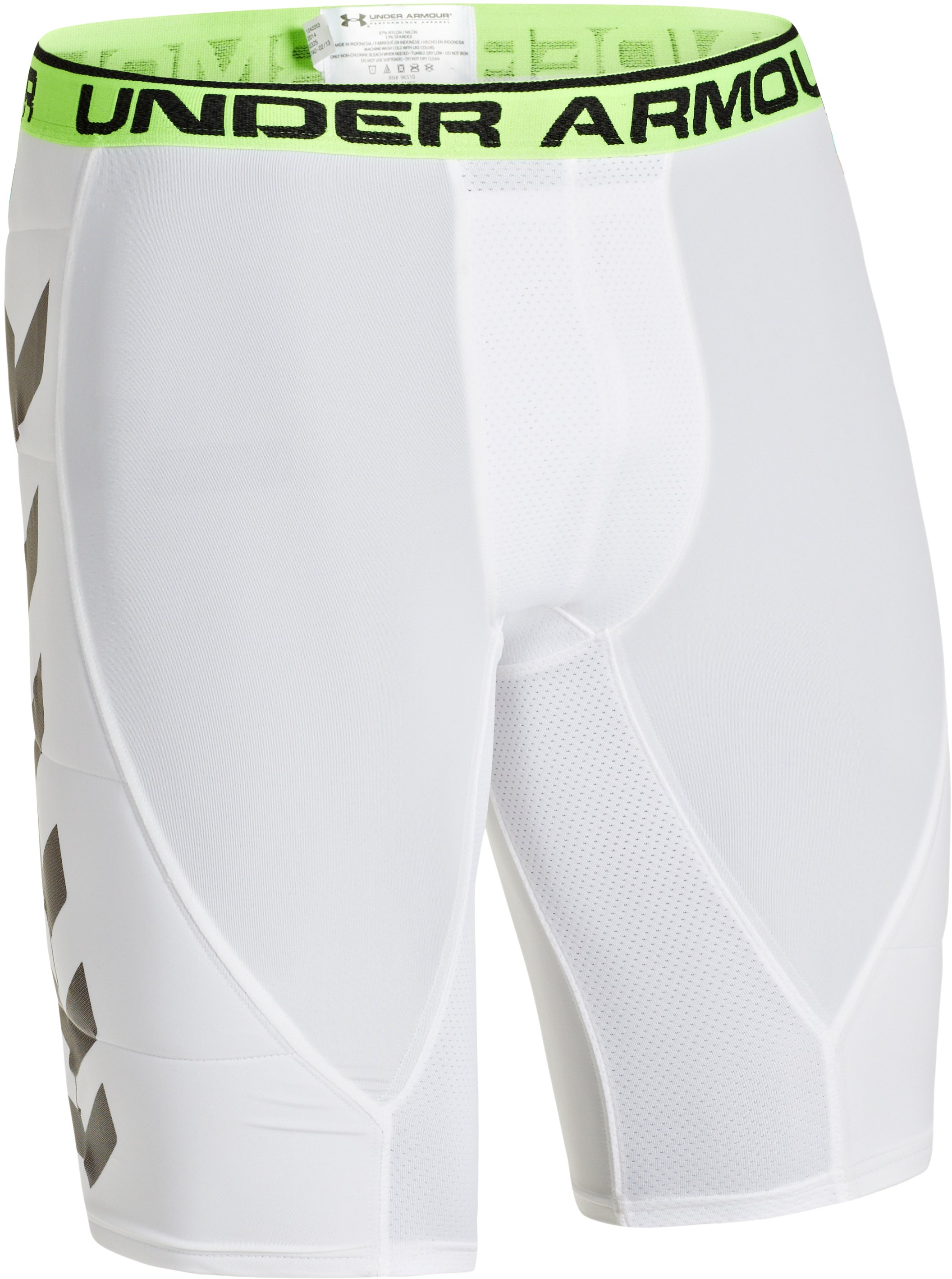 Men's UA Armourlite Stealth Baseball Slider, White