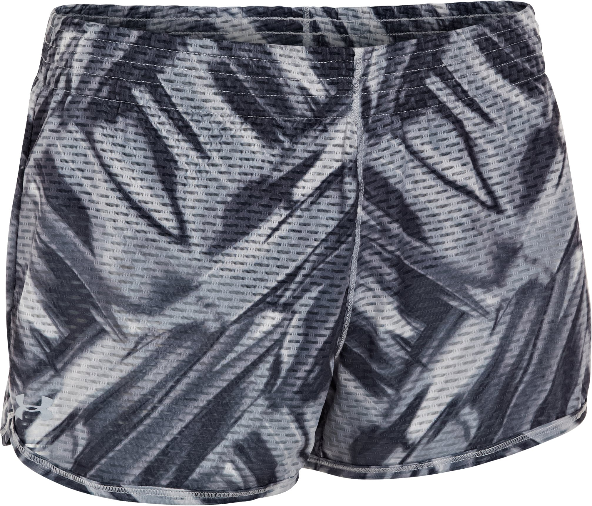 Women's UA Fly-By Printed Knit Short, Steel