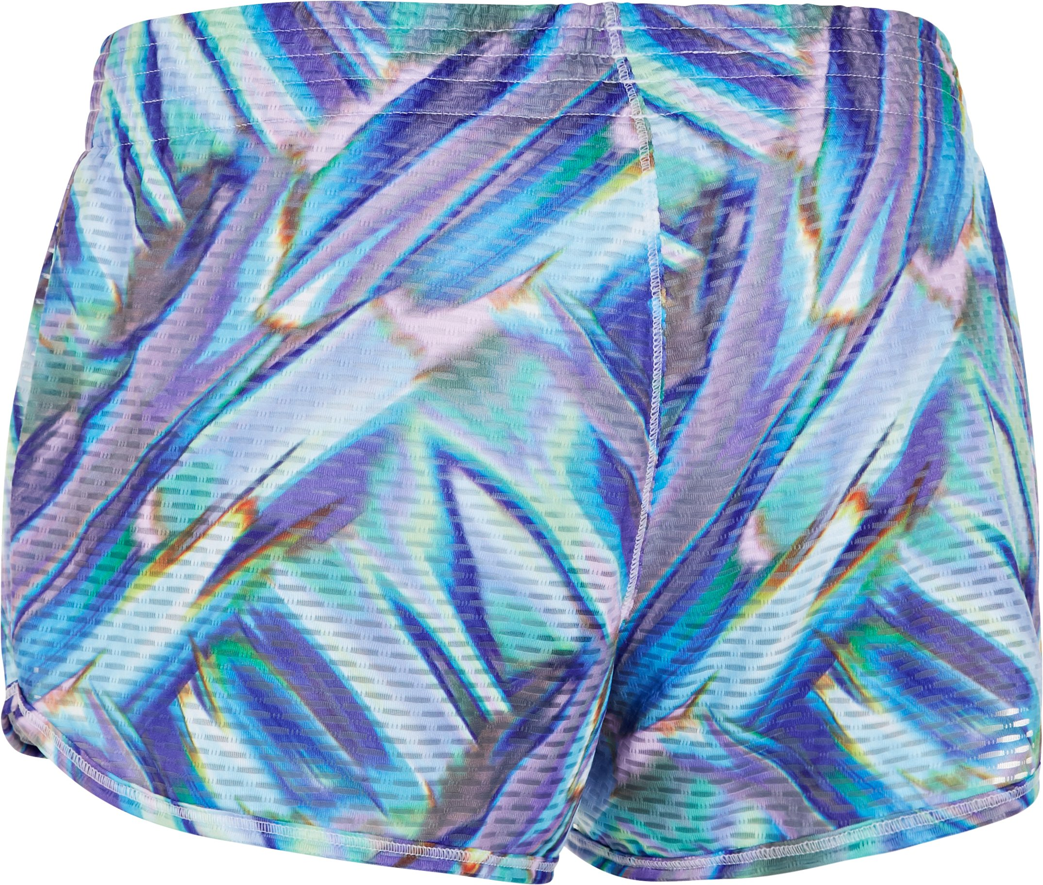 Women's UA Fly-By Printed Knit Short, White