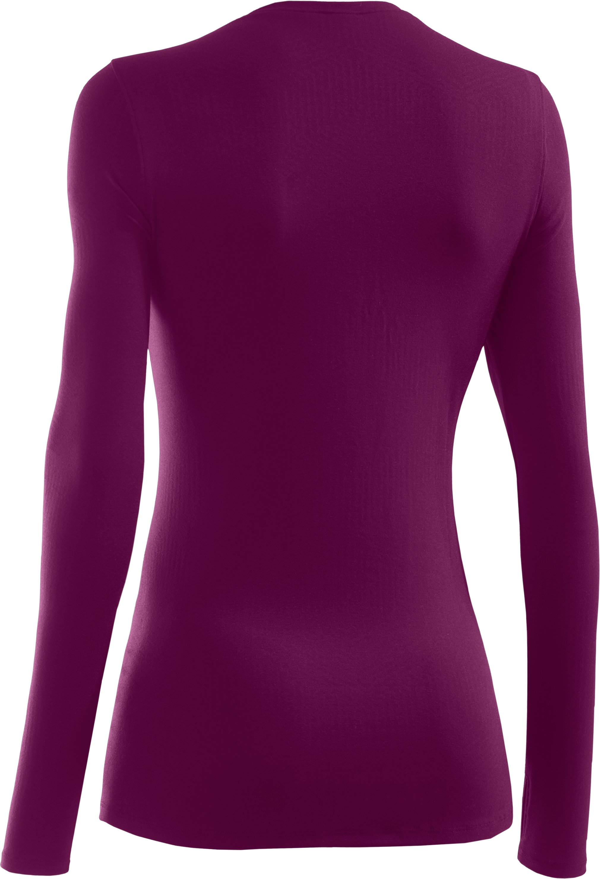 Women's ColdGear® Infrared V-Neck Long Sleeve, Aubergine