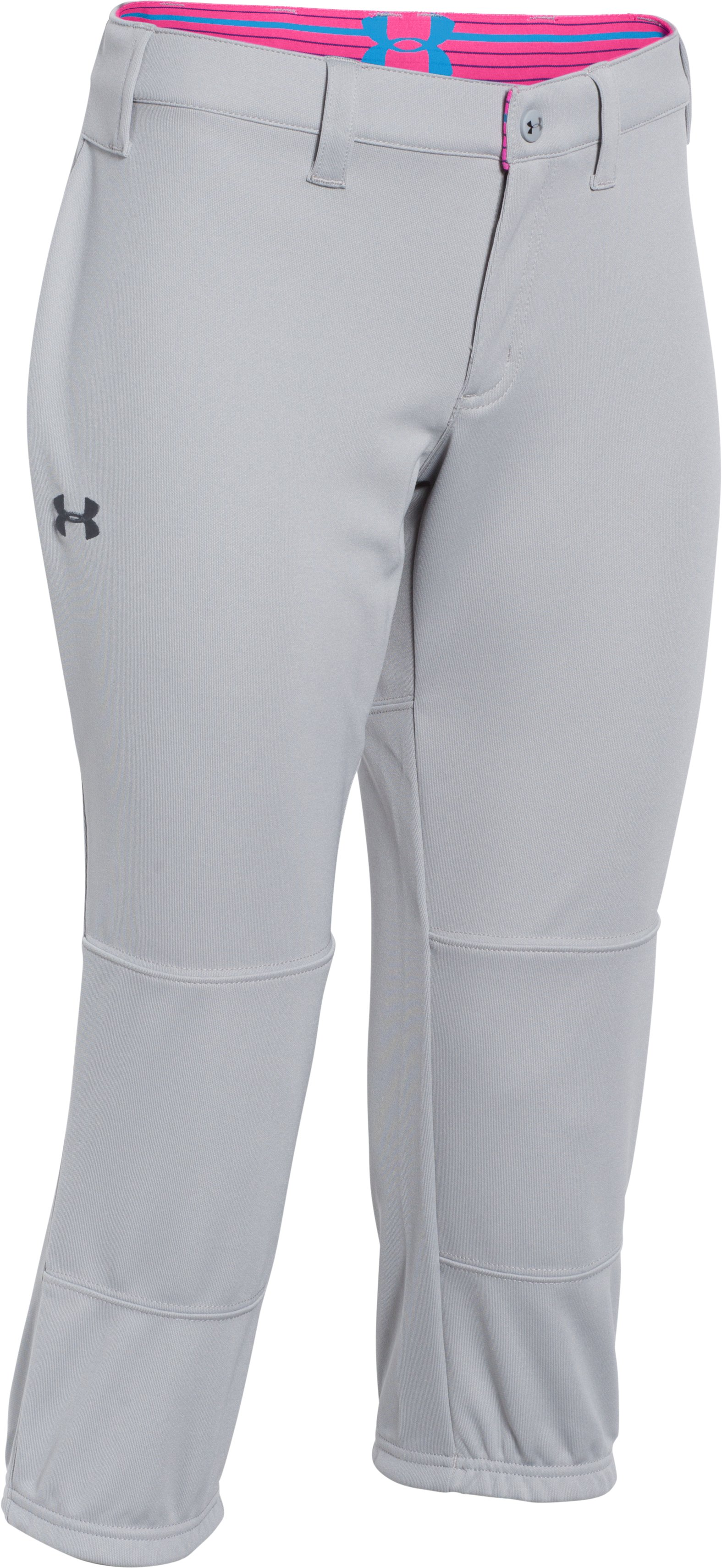 Women's UA Strike Zone Pant, Baseball Gray,