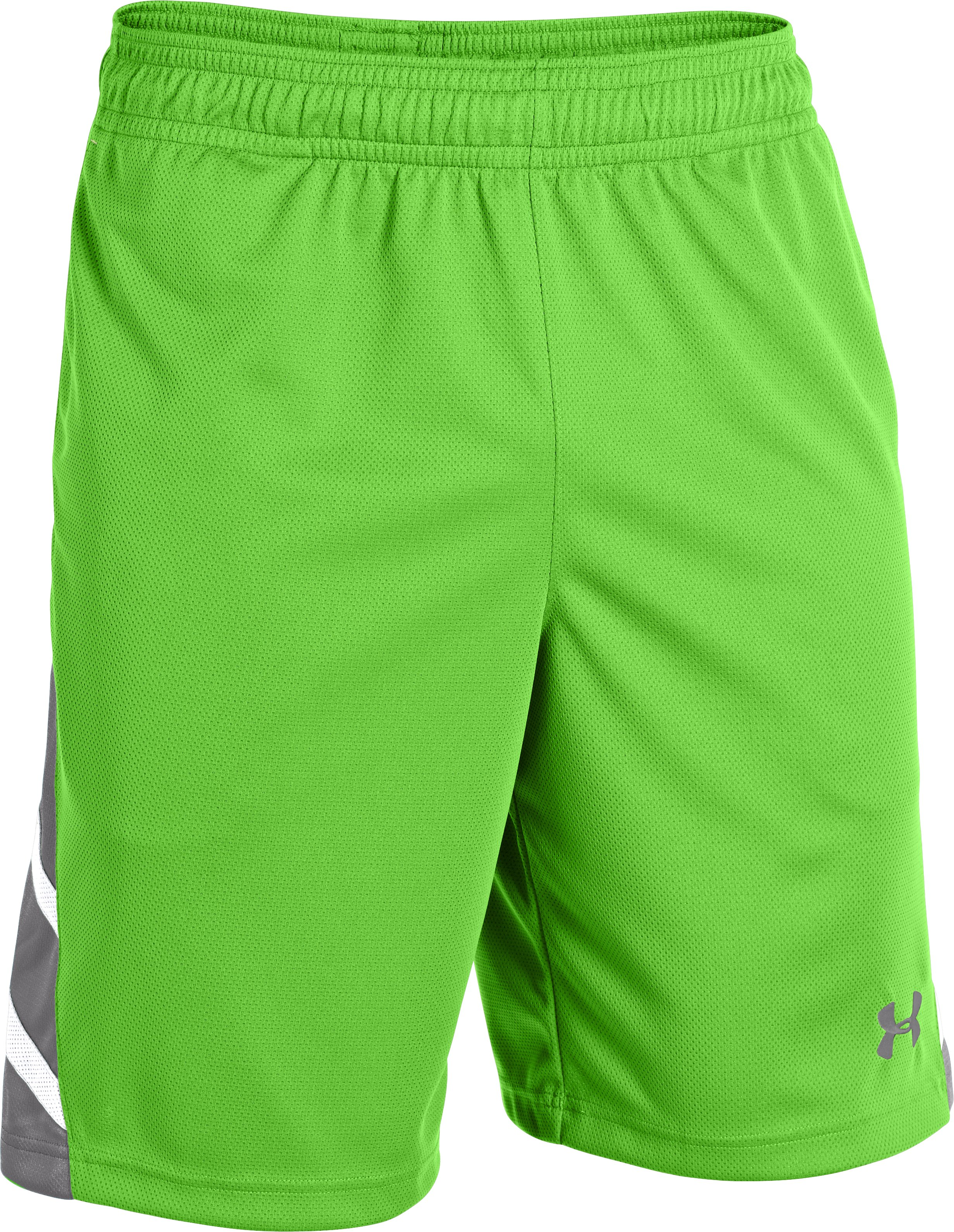 Men's UA Big Timin Shorts, GECKO GREEN