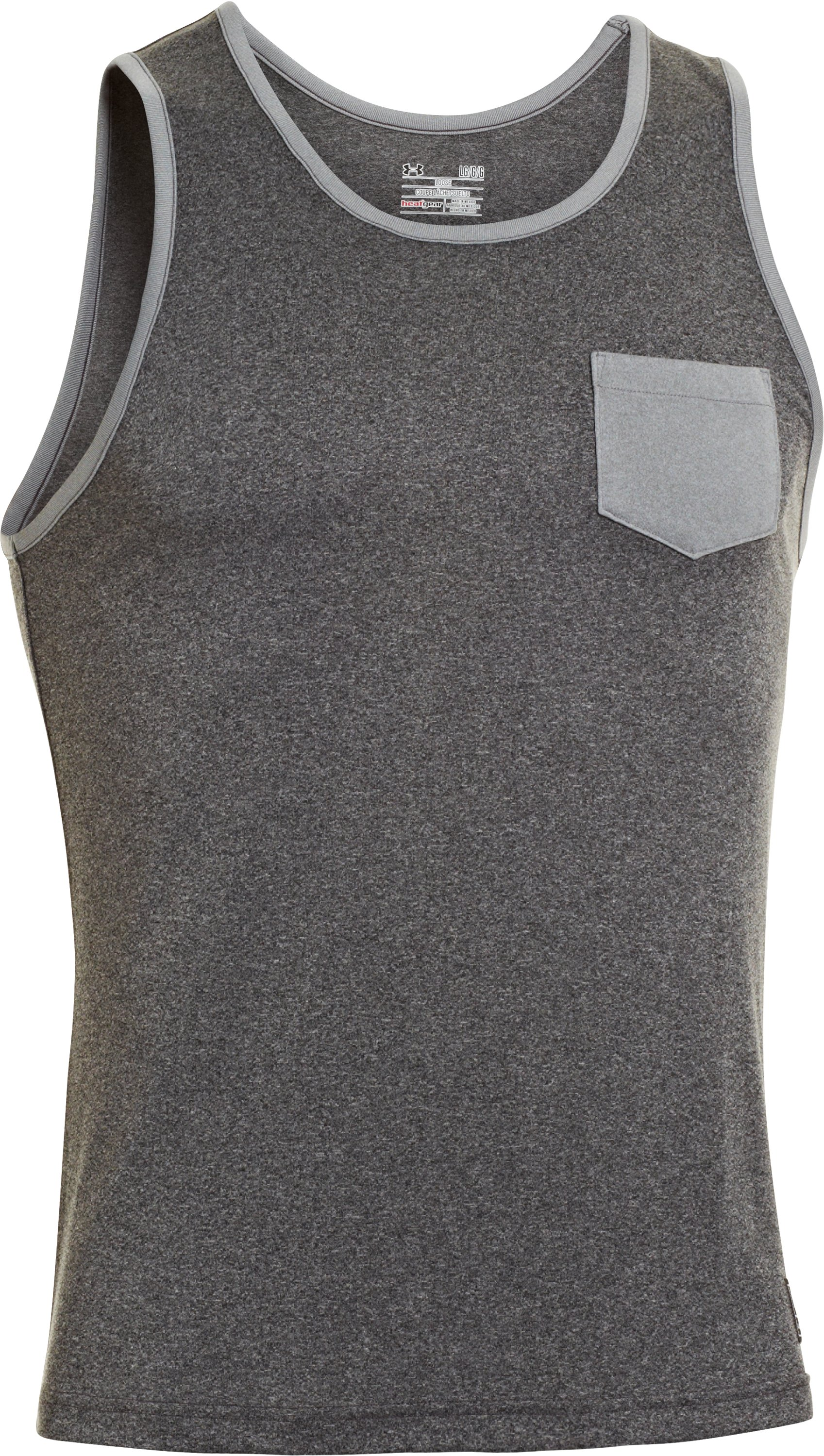 Men's UA Hut 1 Tank, Asphalt Heather, undefined