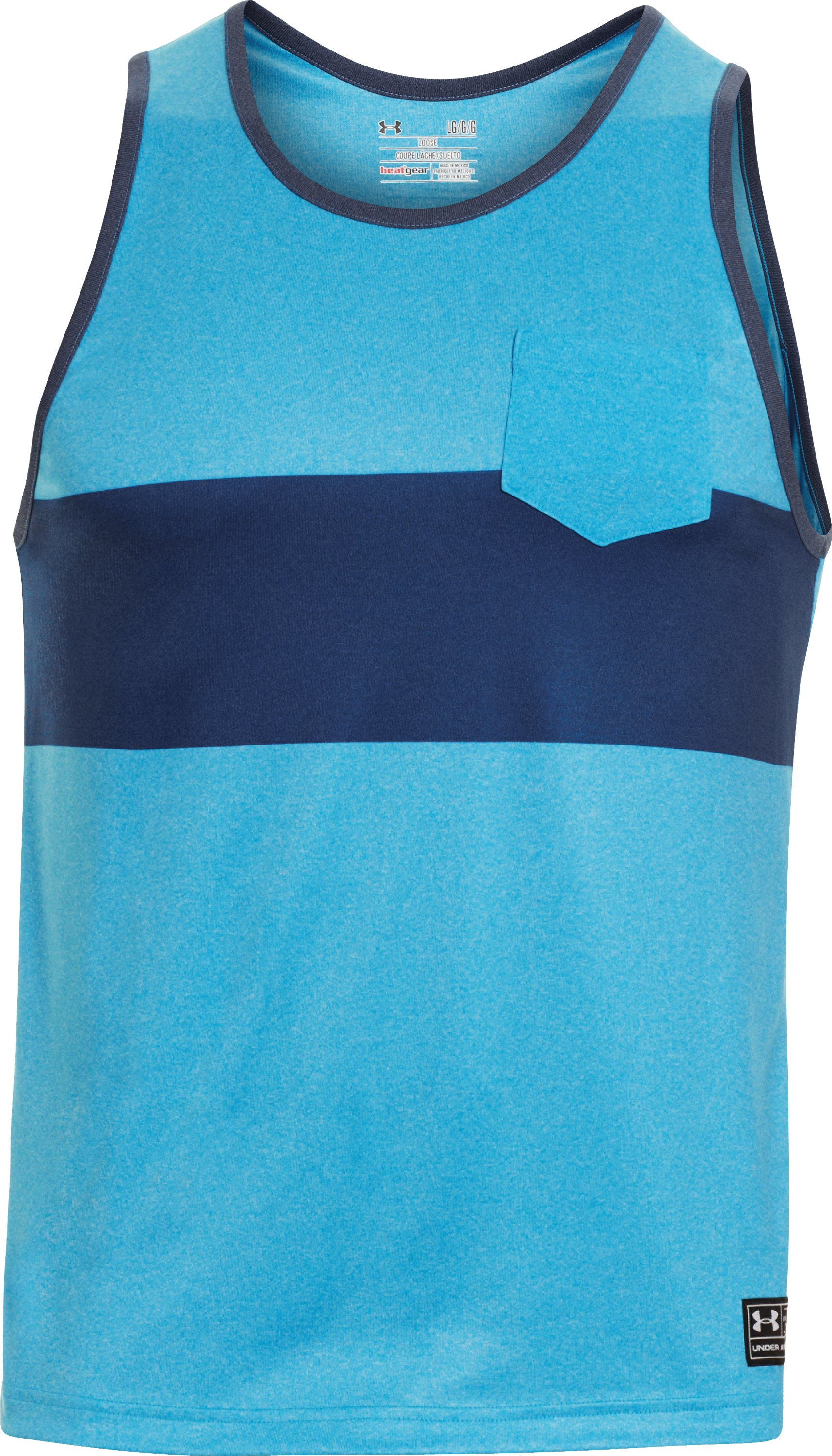 Men's UA Hut 1 Tank, PIRATE BLUE