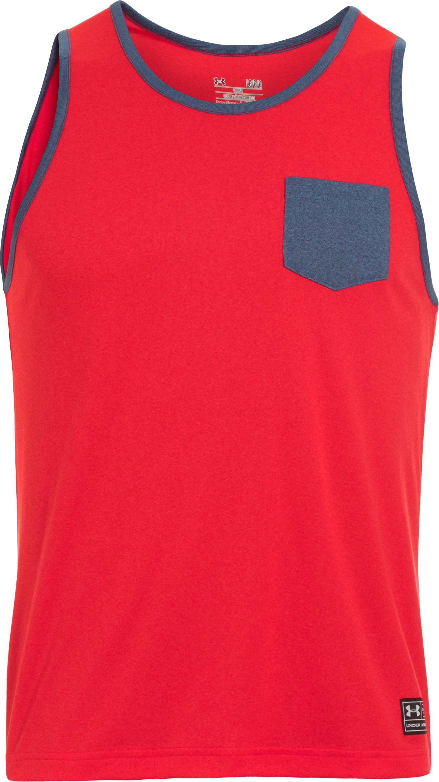 Men's UA Hut 1 Tank, REDNASTY