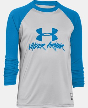 Boys' UA Slasher Long Sleeve Rash Guard LIMITED TIME: FREE U.S. SHIPPING 1 Color $29.99
