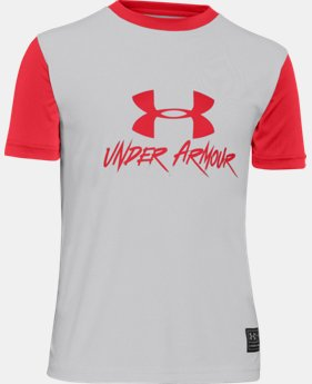 Boys' UA Slasher Short Sleeve Rash Guard  1 Color $20.99