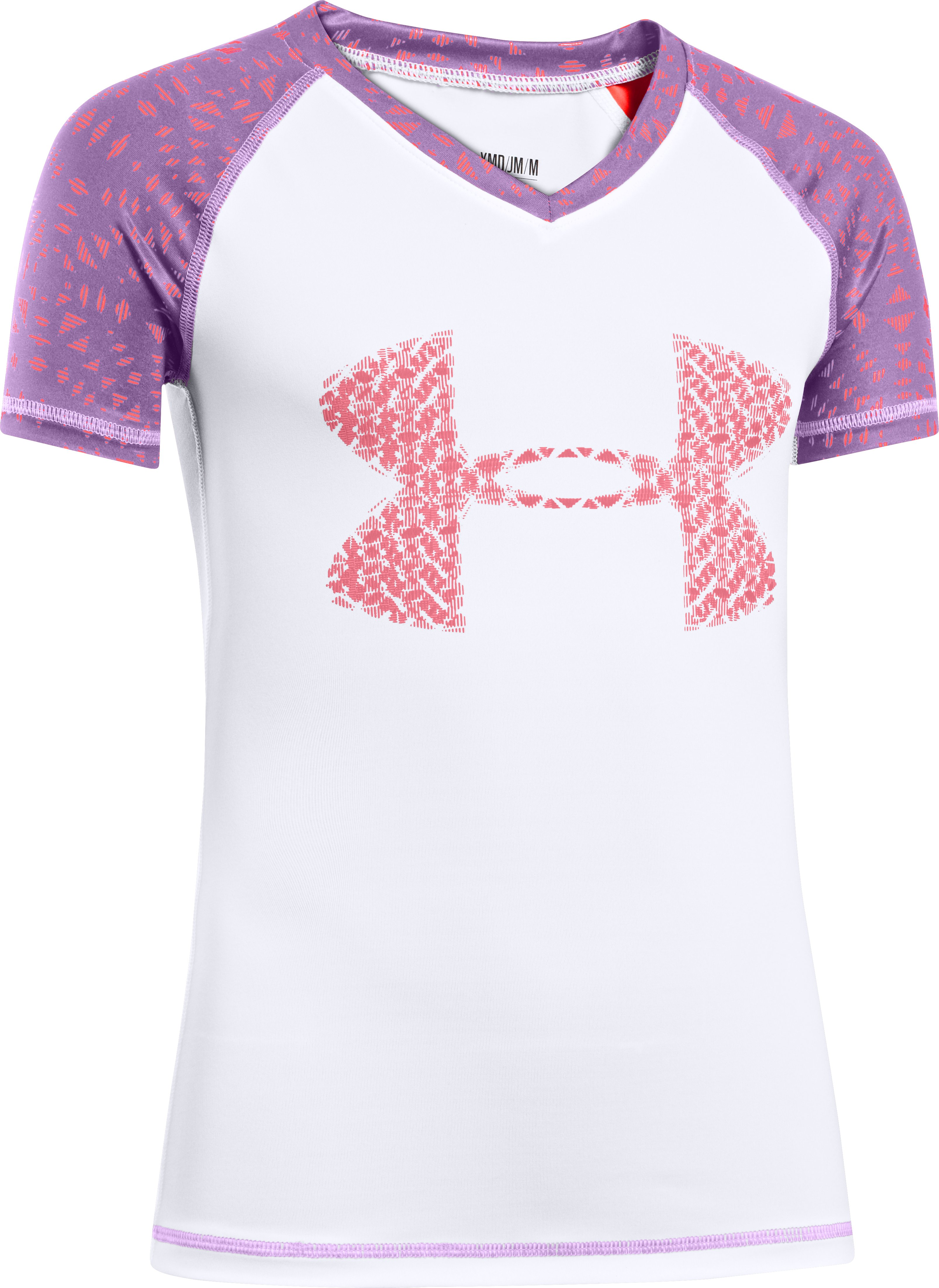 Girls' UA Petra Rash Guard, White,