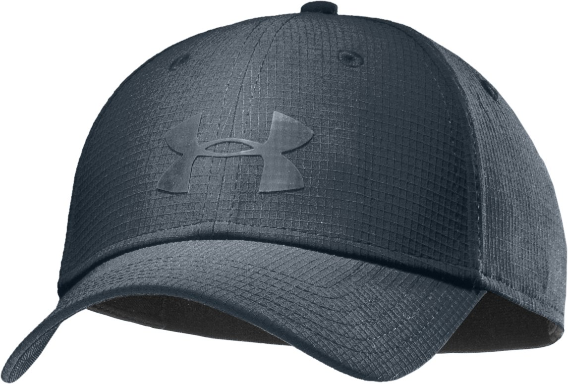 Men's UA Headline Stretch Fit Cap, Charcoal