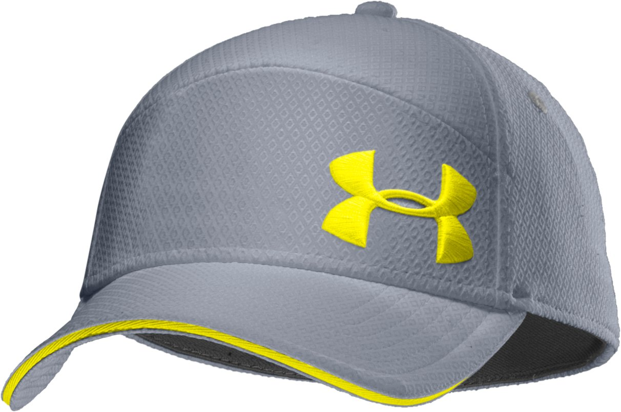 Men's UA Offset Stretch Fit Cap, Steel, zoomed image