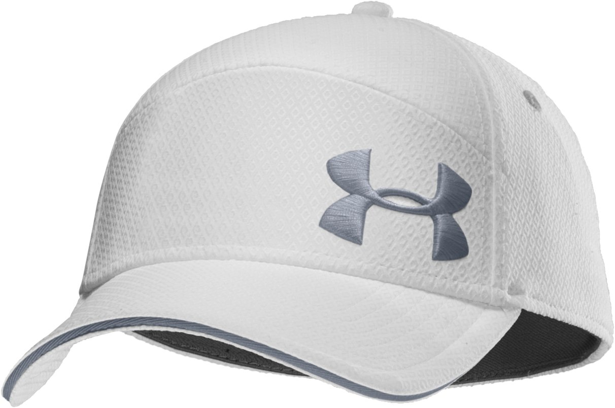 Men's UA Offset Stretch Fit Cap, White, zoomed image