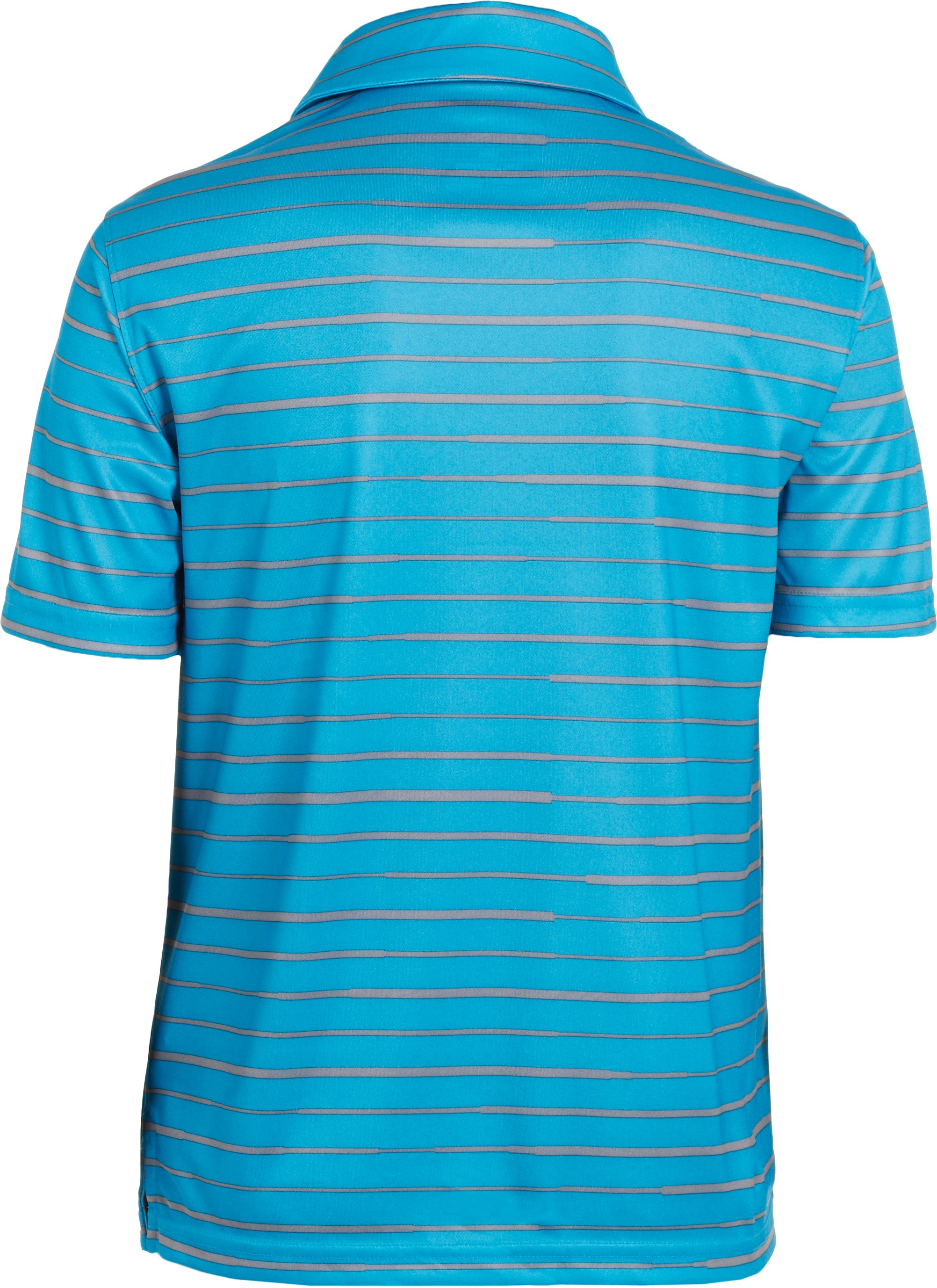 Boys' UA Seismic Strip Polo, PIRATE BLUE