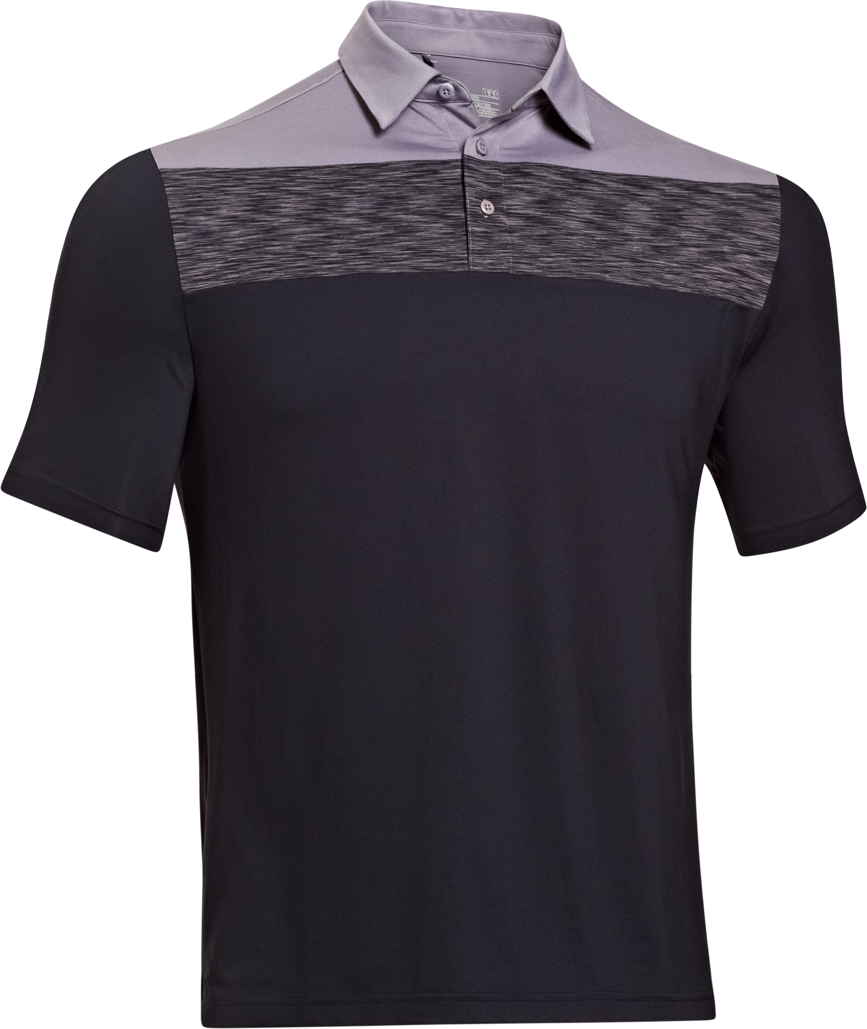 Men's UA Elevated Chest Stripe Polo, Black