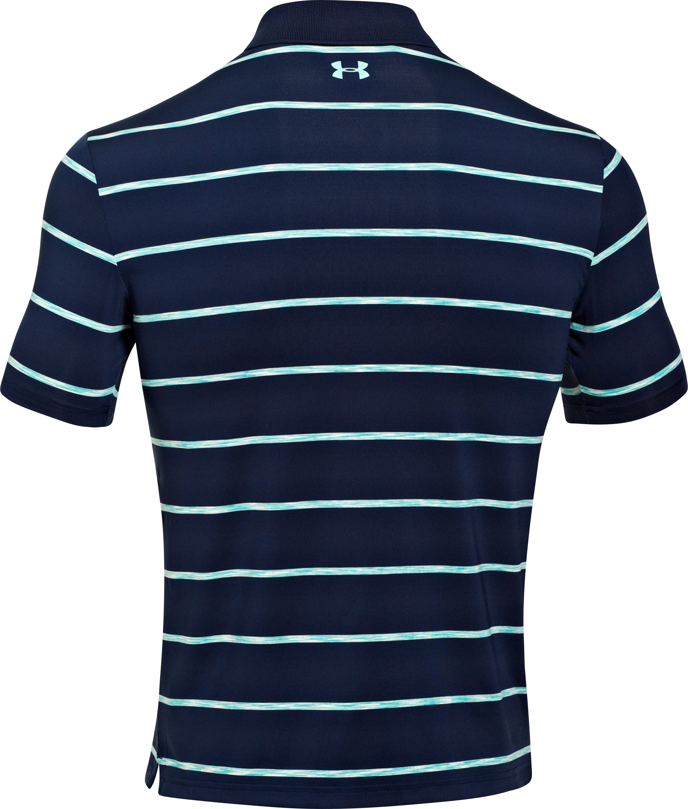 Men's UA Space Stripe Polo, Academy, undefined