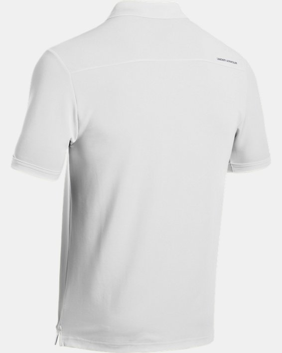 Polo UA Performance pour homme, White, pdpMainDesktop image number 9