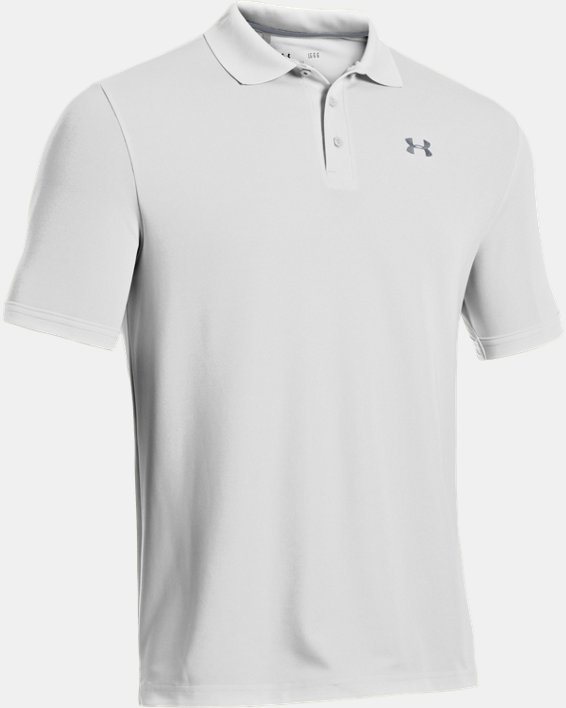 Polo UA Performance pour homme, White, pdpMainDesktop image number 8