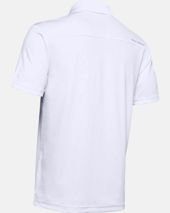 Polo UA Performance pour homme, White, pdpMainDesktop image number 6