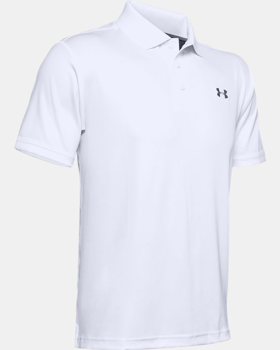 Polo UA Performance pour homme, White, pdpMainDesktop image number 5