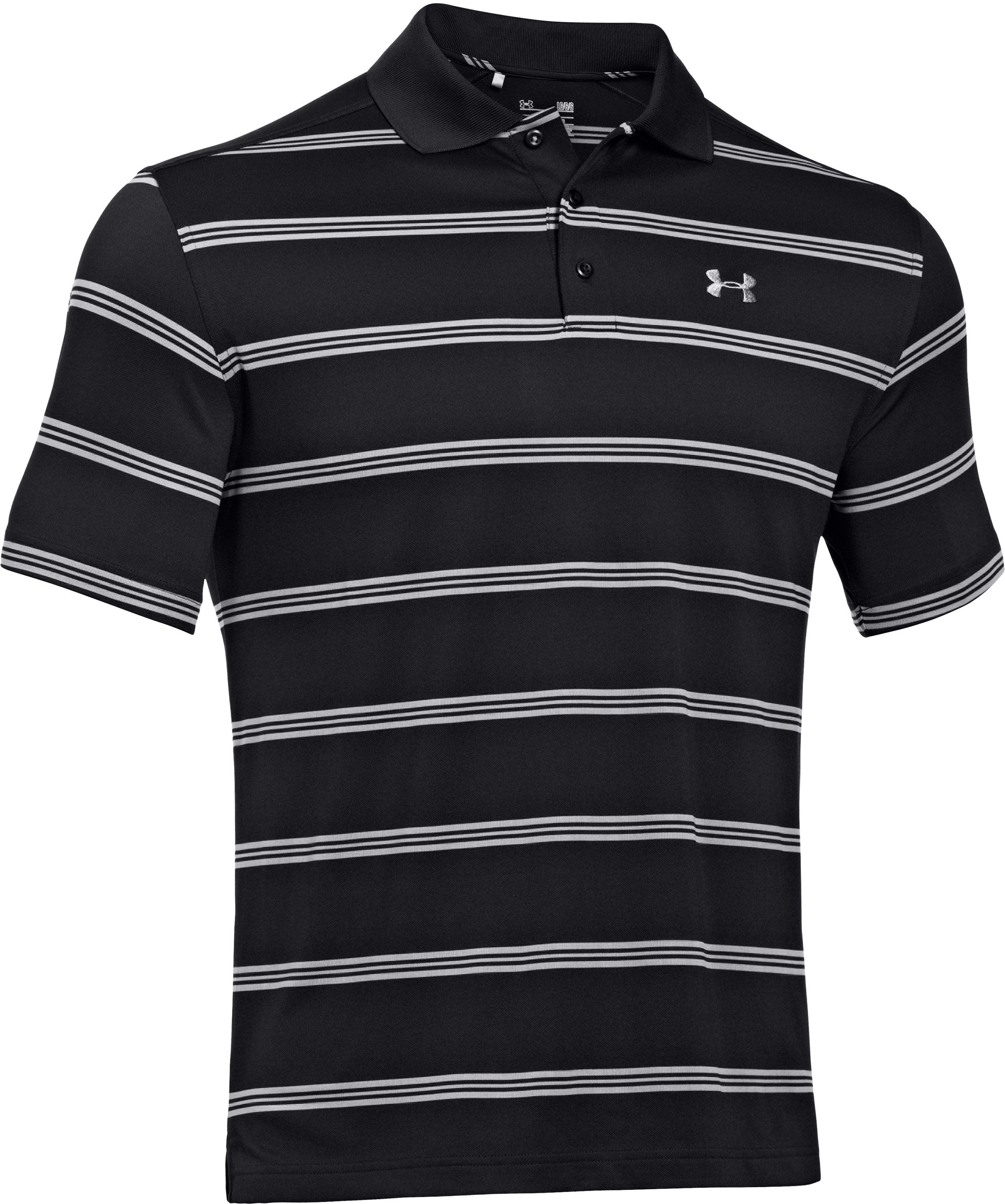 Men's UA Fade Stripe Polo, Black