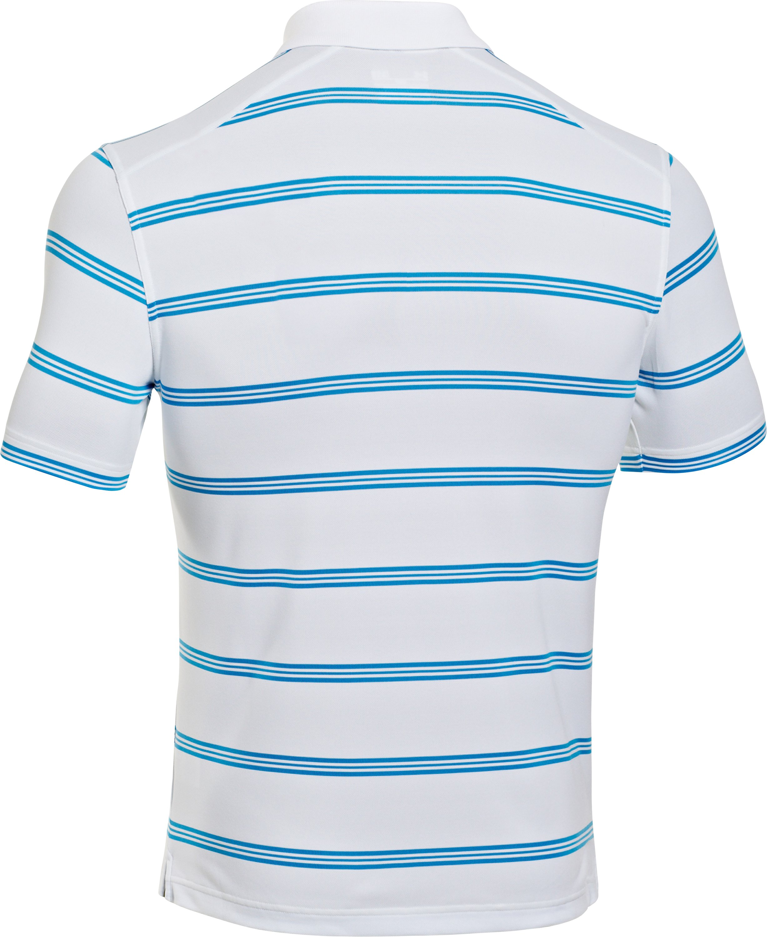 Men's UA Fade Stripe Polo, White