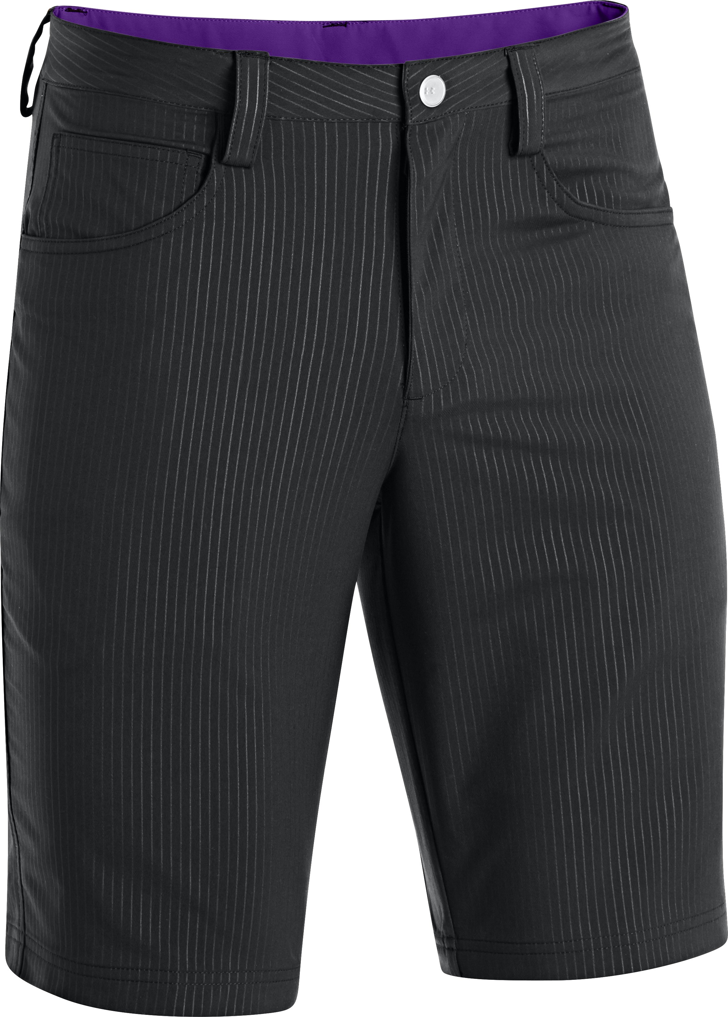 Men's UA Elevated Twill Golf Shorts, Black