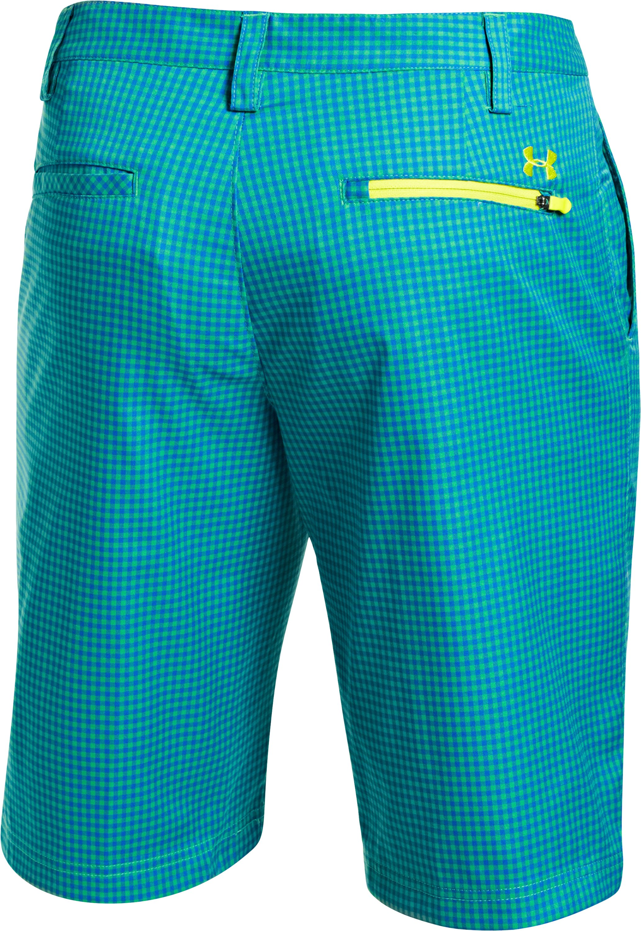 Men's UA Gingham Plaid Golf Shorts, Feisty