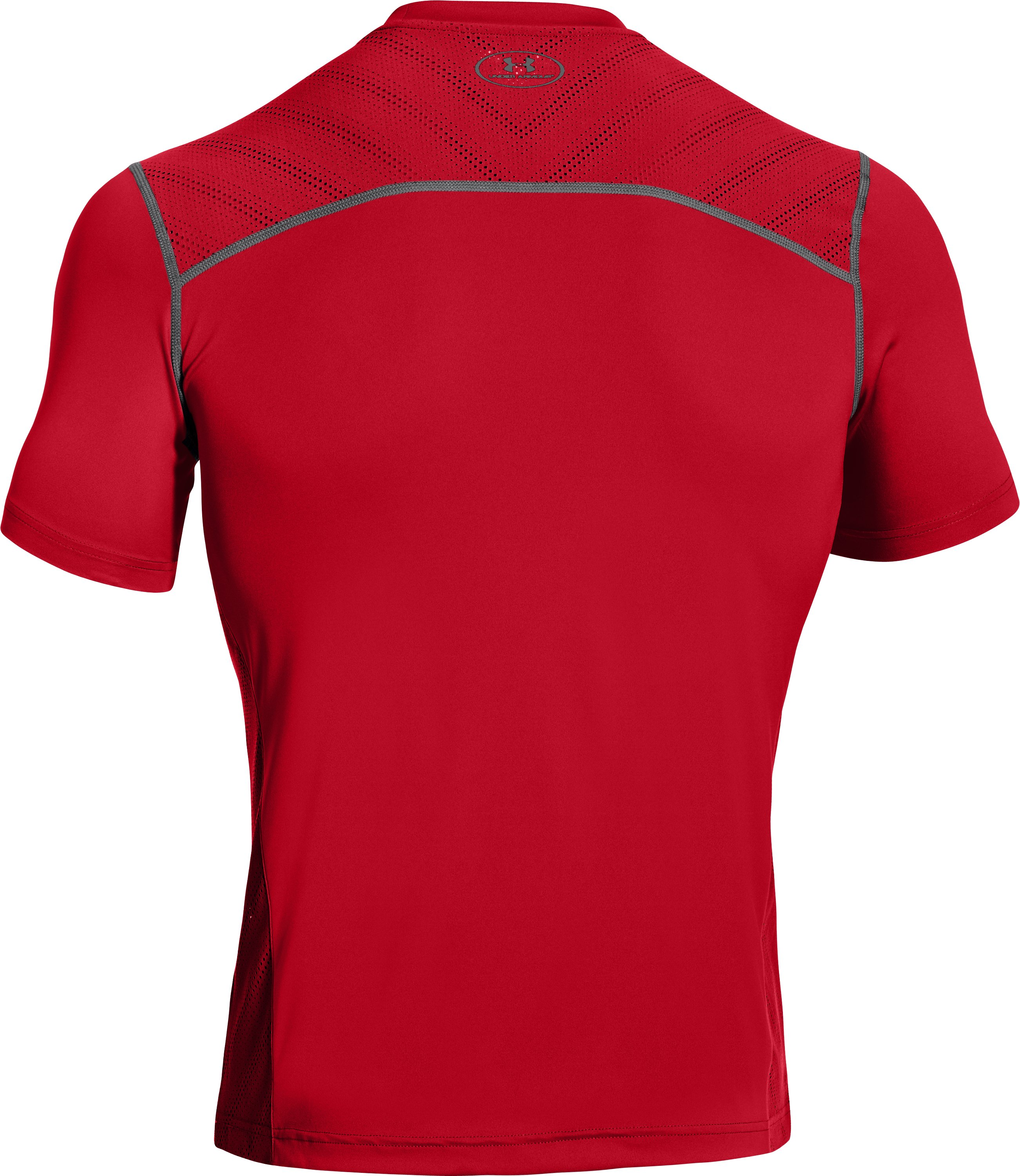 Men's HeatGear® ArmourVent™ Training T-Shirt, Red, undefined