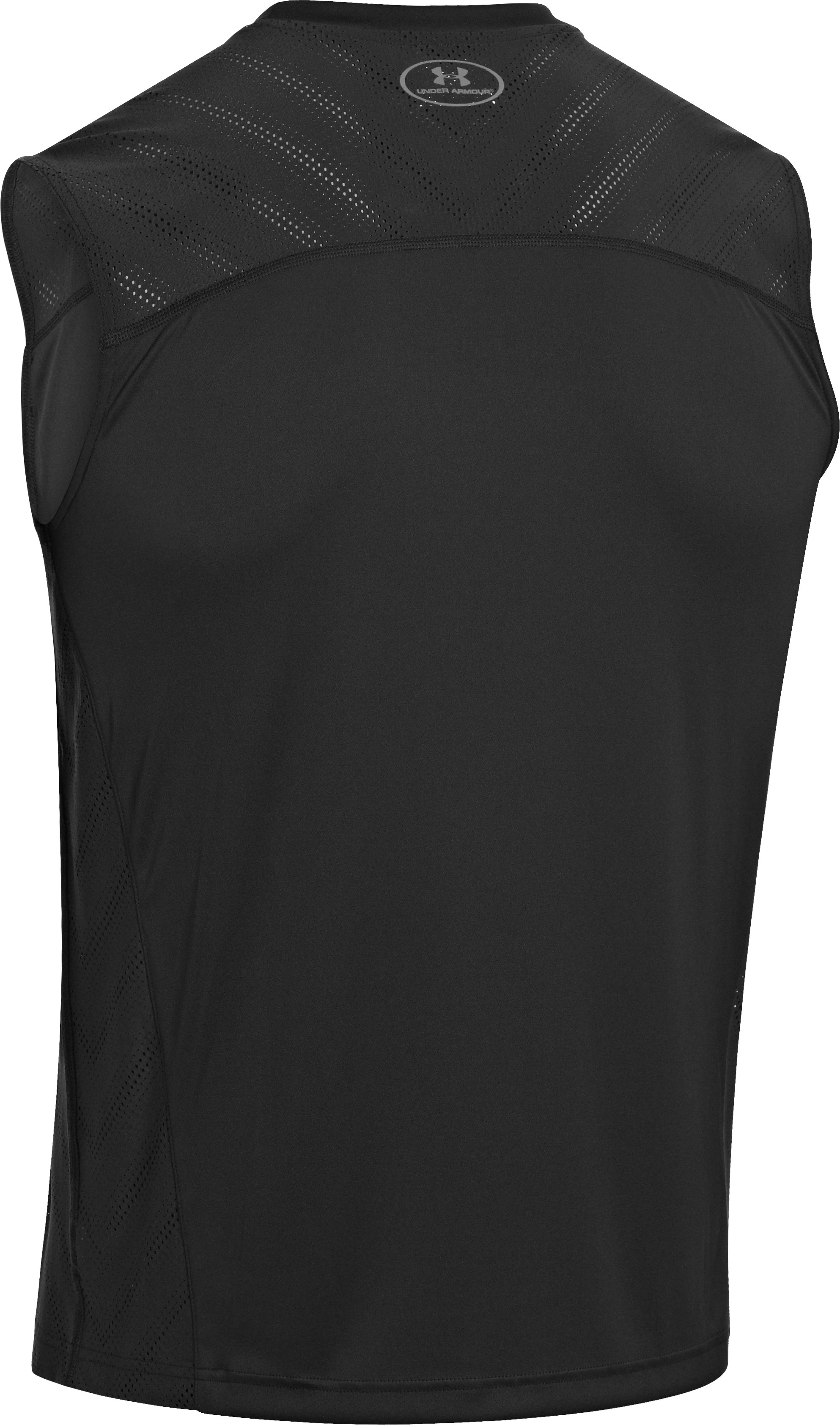 Men's HeatGear® ArmourVent™ Sleeveless Training T-Shirt, Black