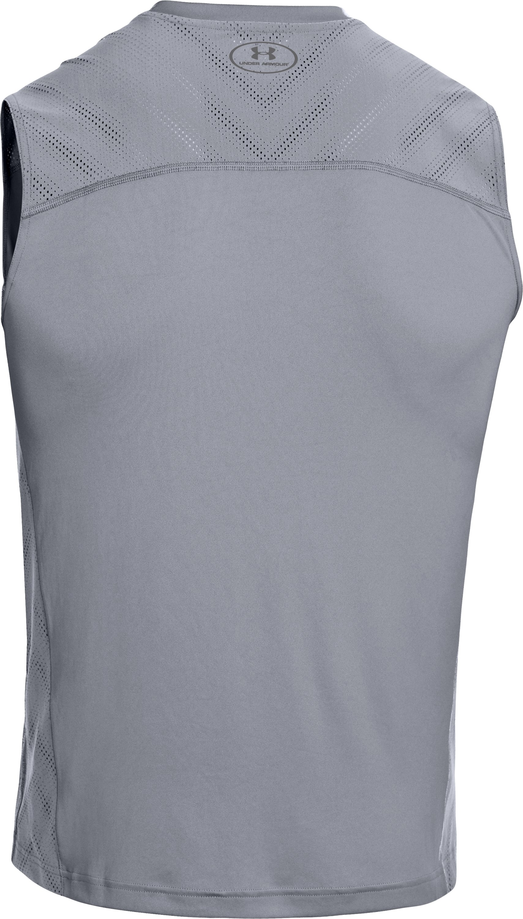 Men's HeatGear® ArmourVent™ Sleeveless Training T-Shirt, Steel