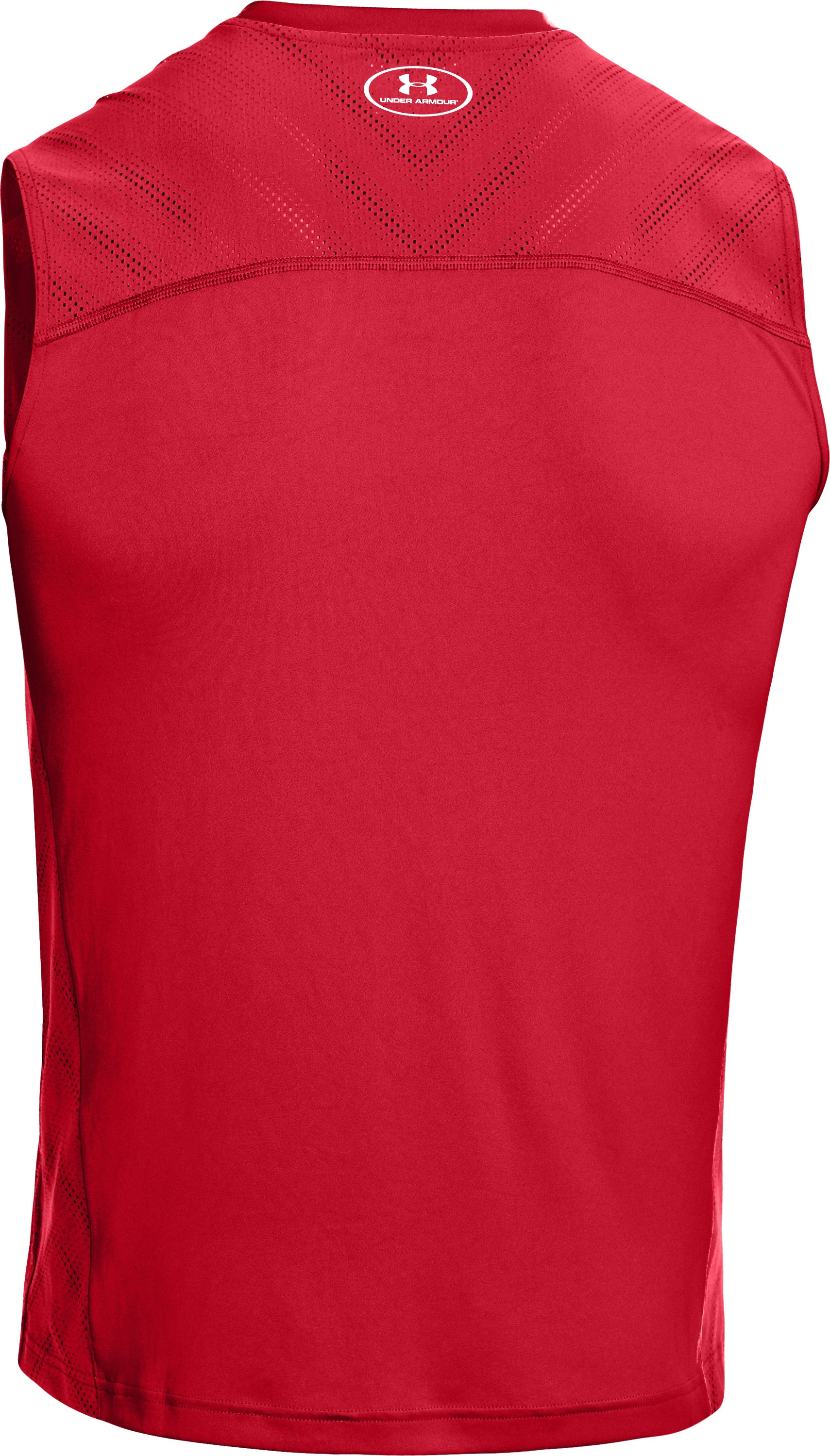 Men's HeatGear® ArmourVent™ Sleeveless Training T-Shirt, Red, undefined