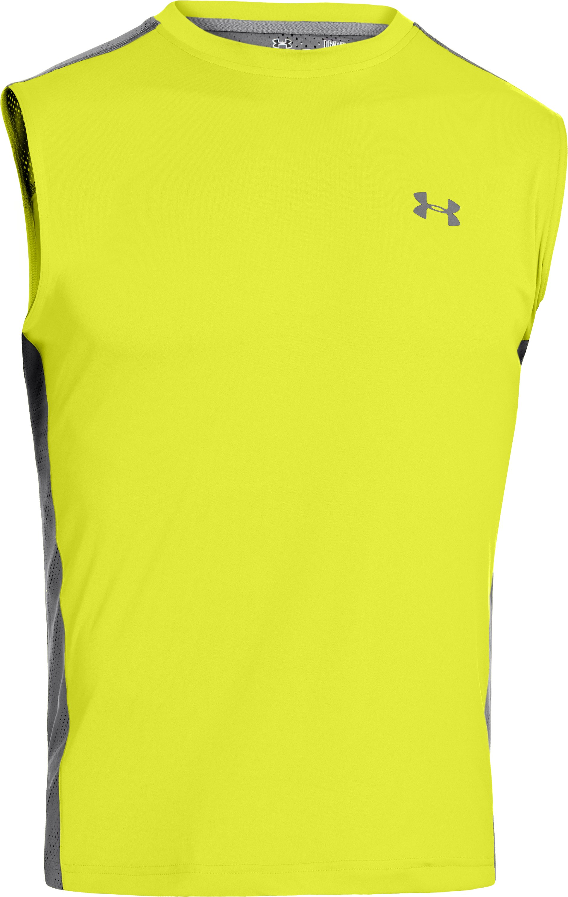 Men's HeatGear® ArmourVent™ Sleeveless Training T-Shirt, Flash Light