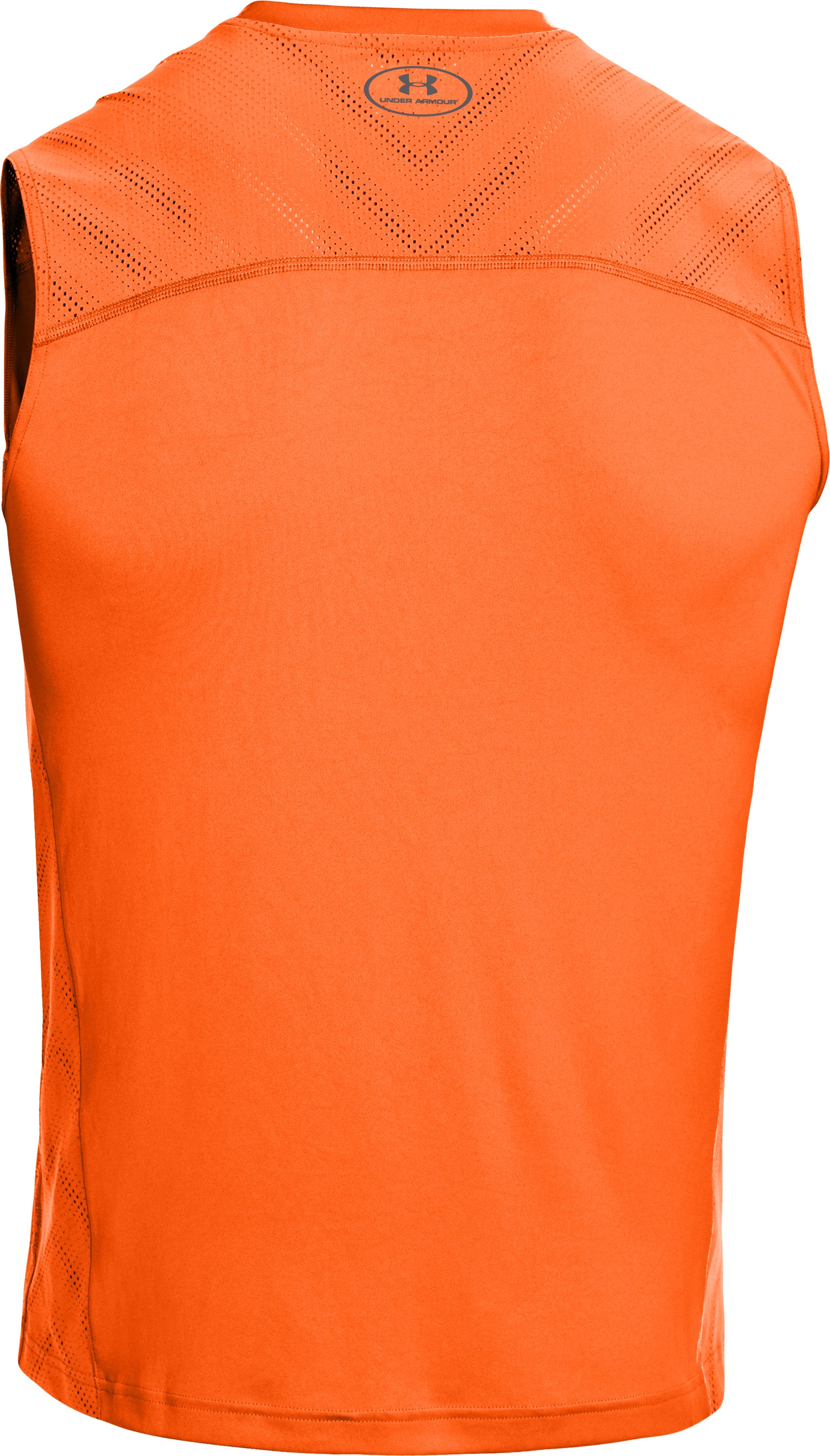 Men's HeatGear® ArmourVent™ Sleeveless Training T-Shirt, OUTRAGEOUS ORANGE